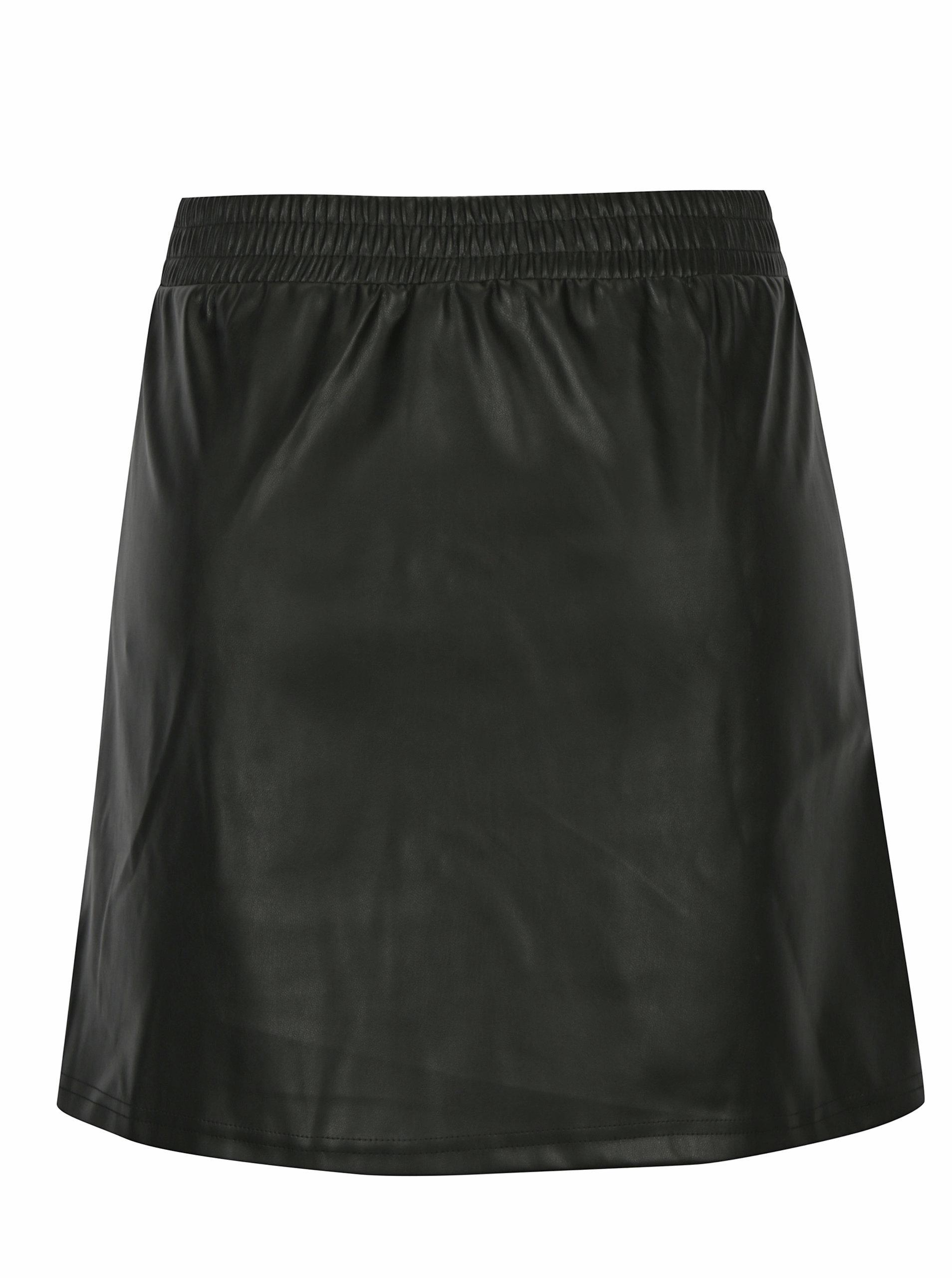 379917c363e Černá koženková sukně s kapsami Noisy May Milton ...
