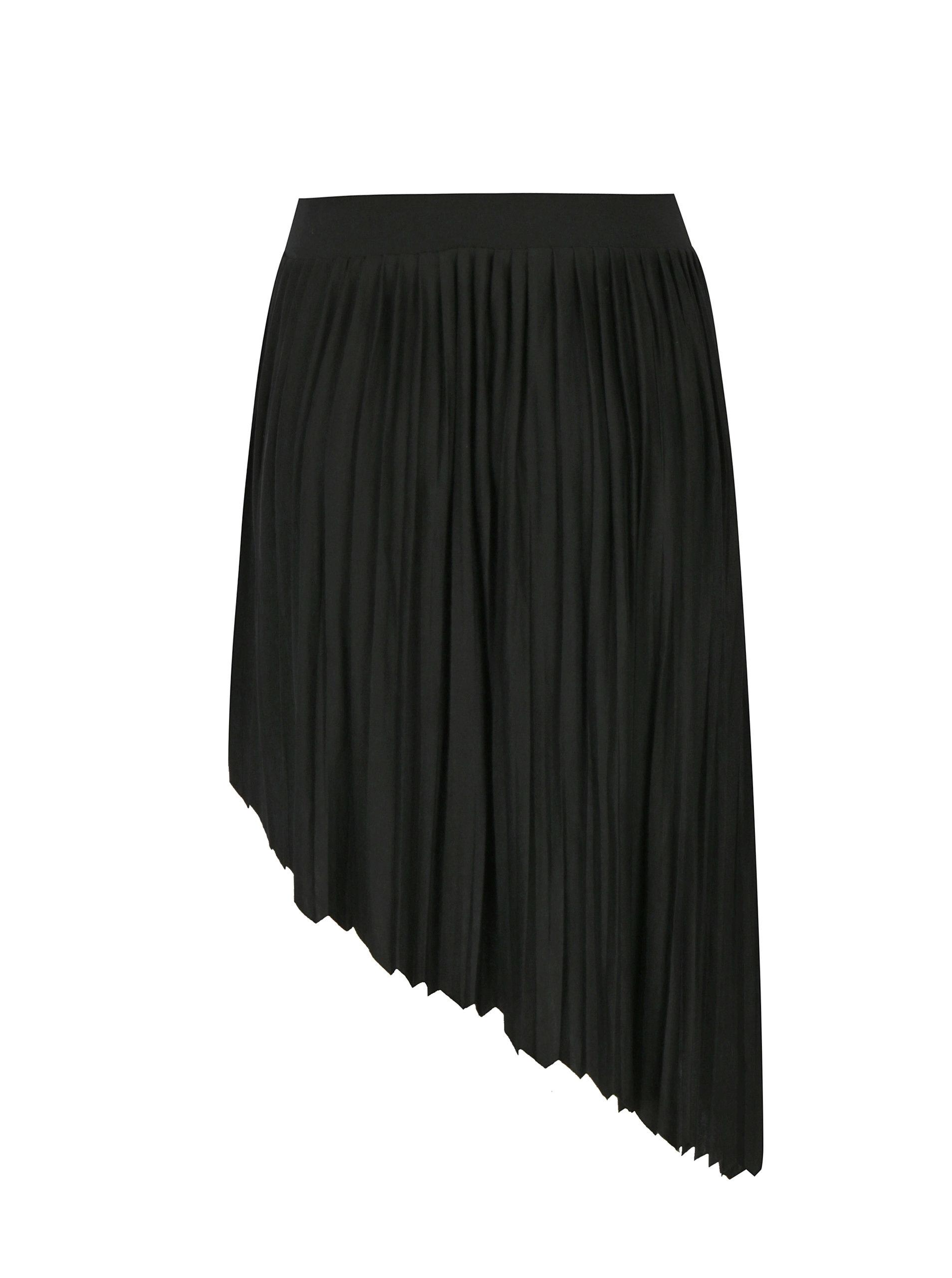 Černá asymetrická skládaná sukně Noisy May French ... 32d78ff623