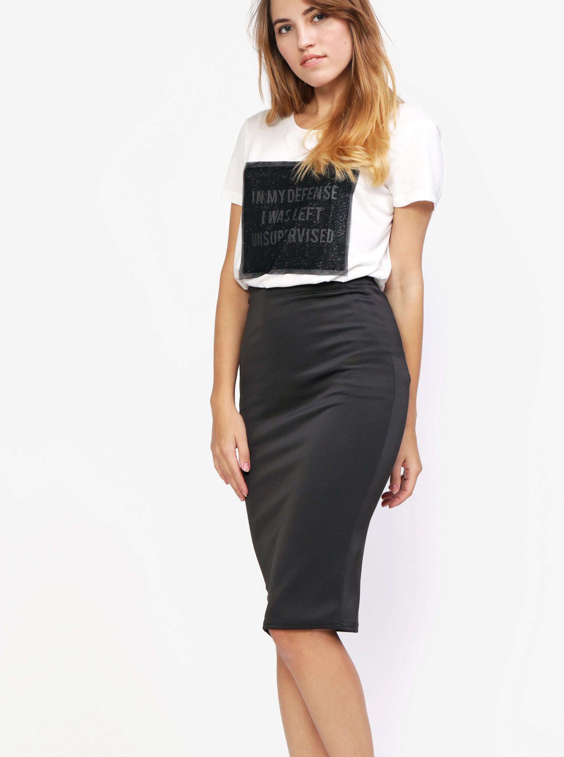 Černá pouzdrová sukně MISSGUIDED ... 74205682bf