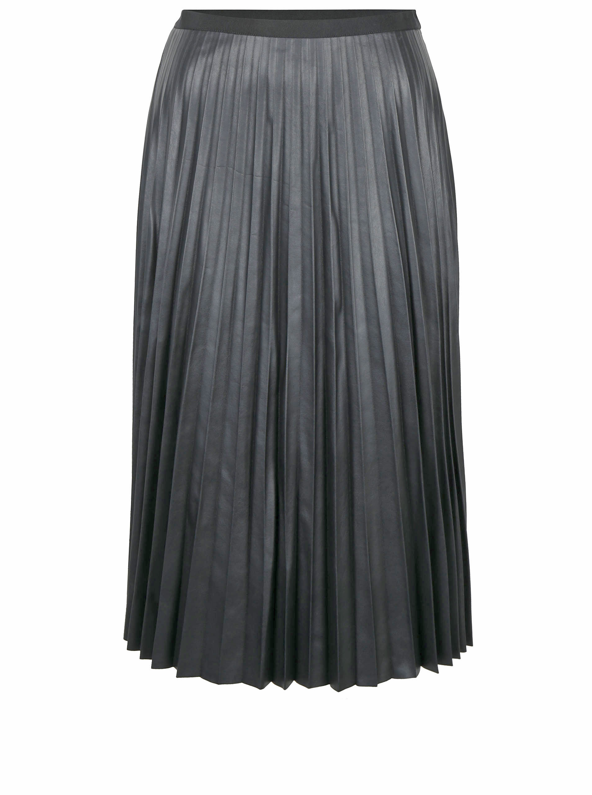 ef17580a94a8 Čierna koženková plisovaná sukňa VERO MODA Jo ...
