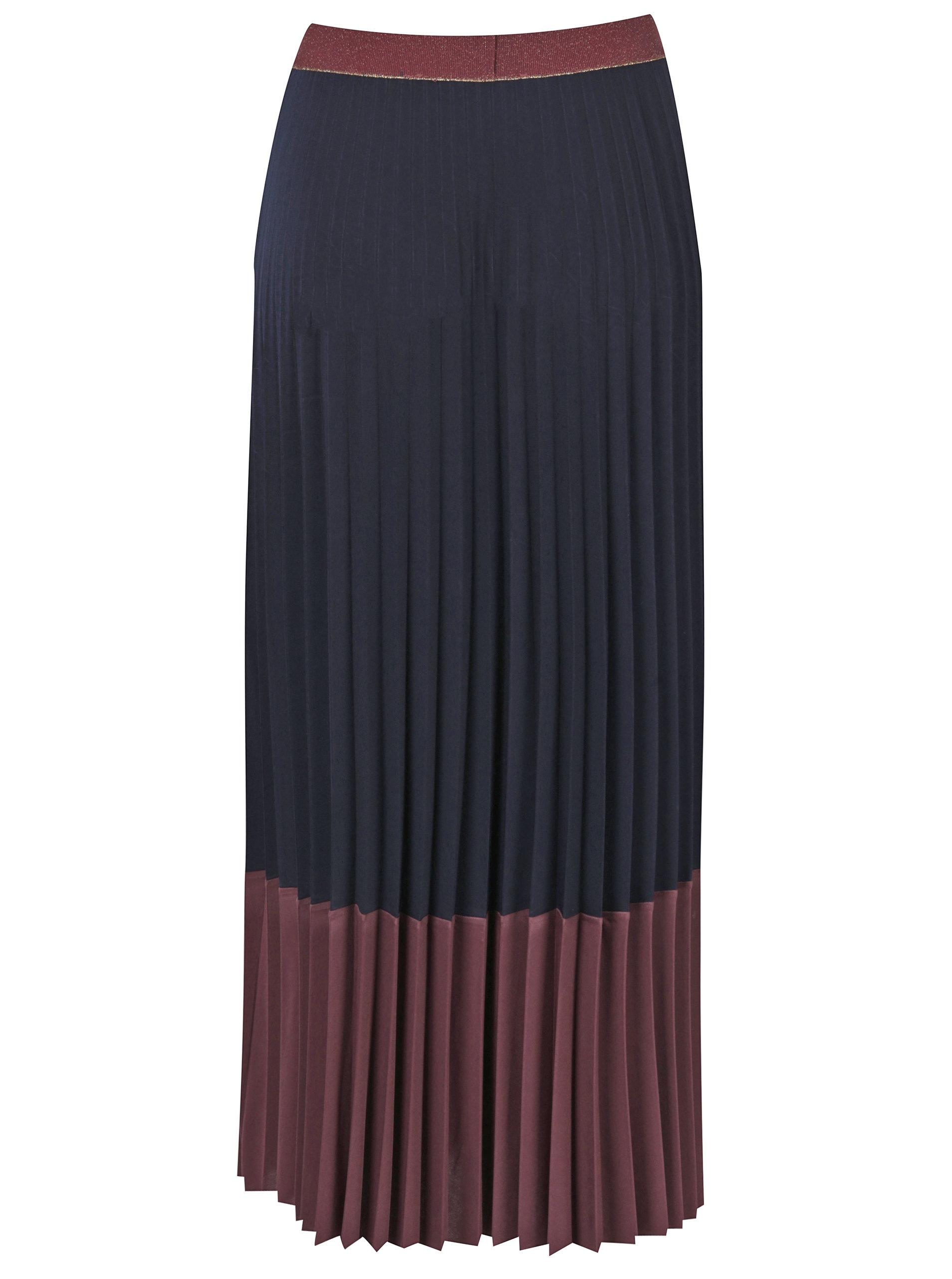 61f6be18d0f0 Vínová plisovaná maxi sukně Rich   Royal ...