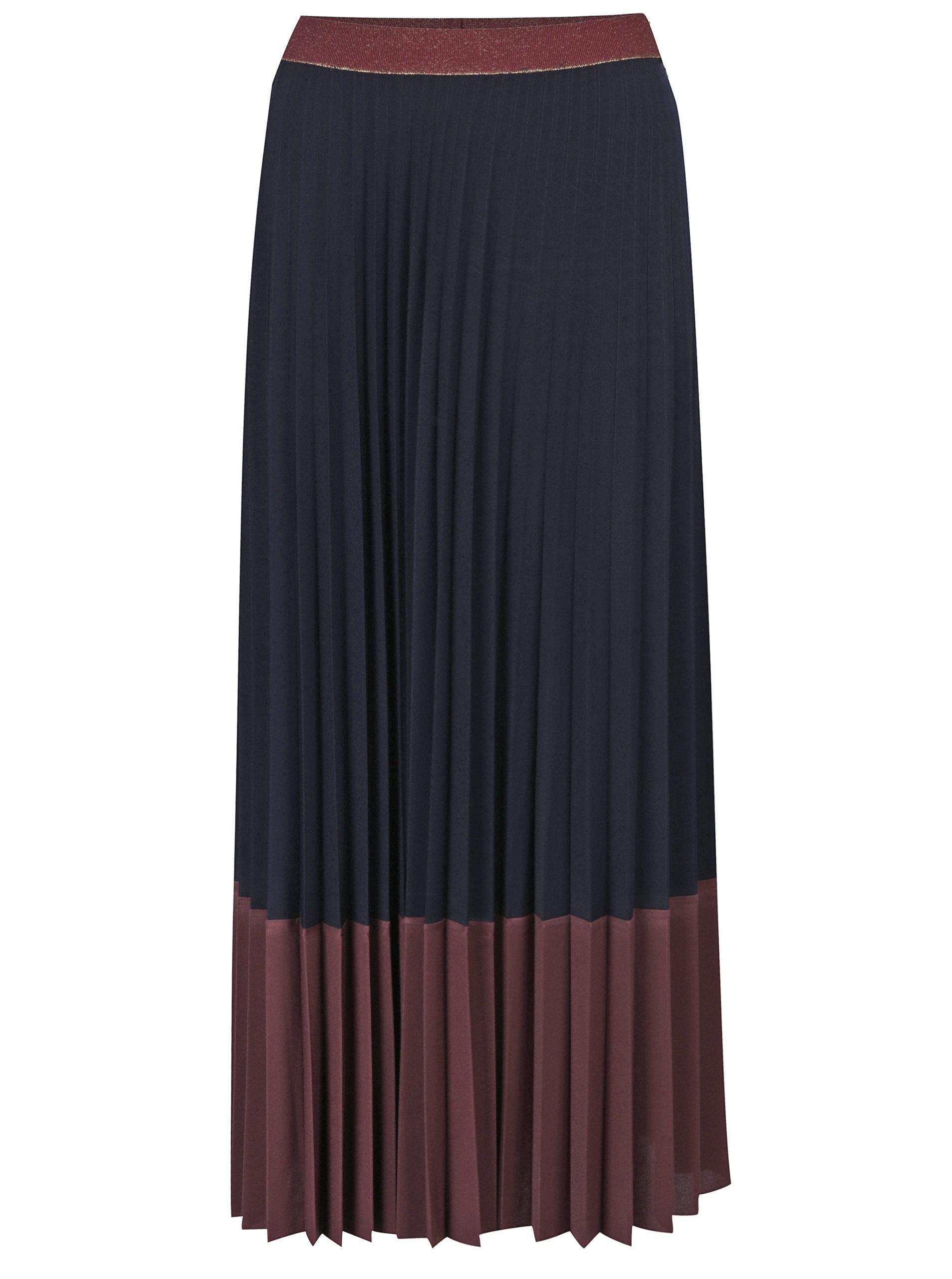 Vínová plisovaná maxi sukně Rich   Royal ... c8447f7486