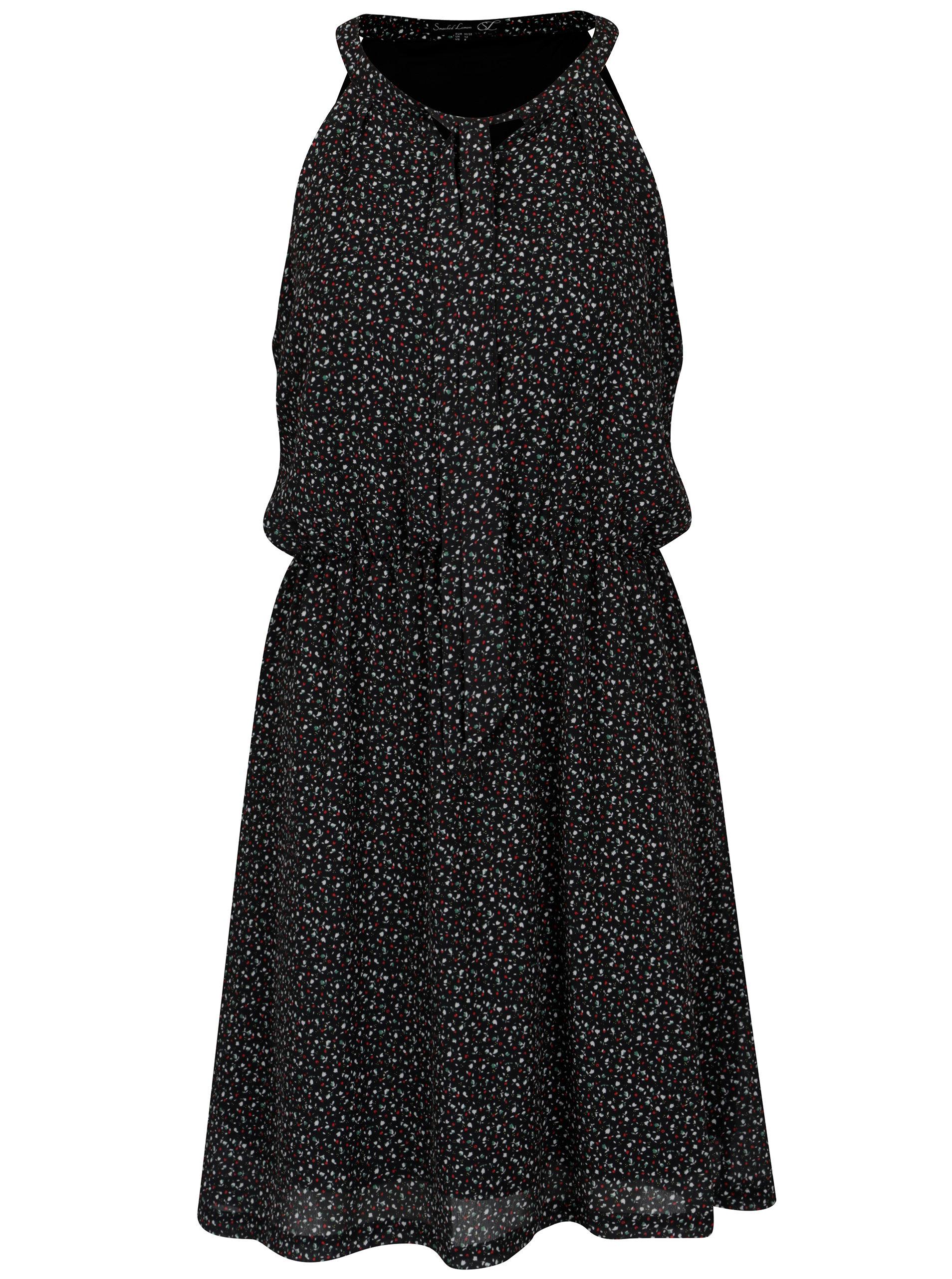 7704b6650 Čierne vzorované šaty s mašľou Smashed Lemon | ZOOT.sk