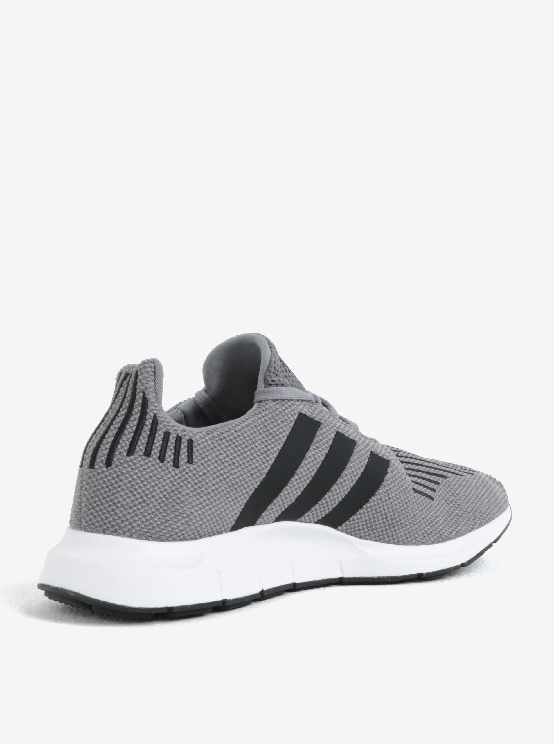 Sivé pánske tenisky adidas Originals Swift run ... 213b64bf5a3