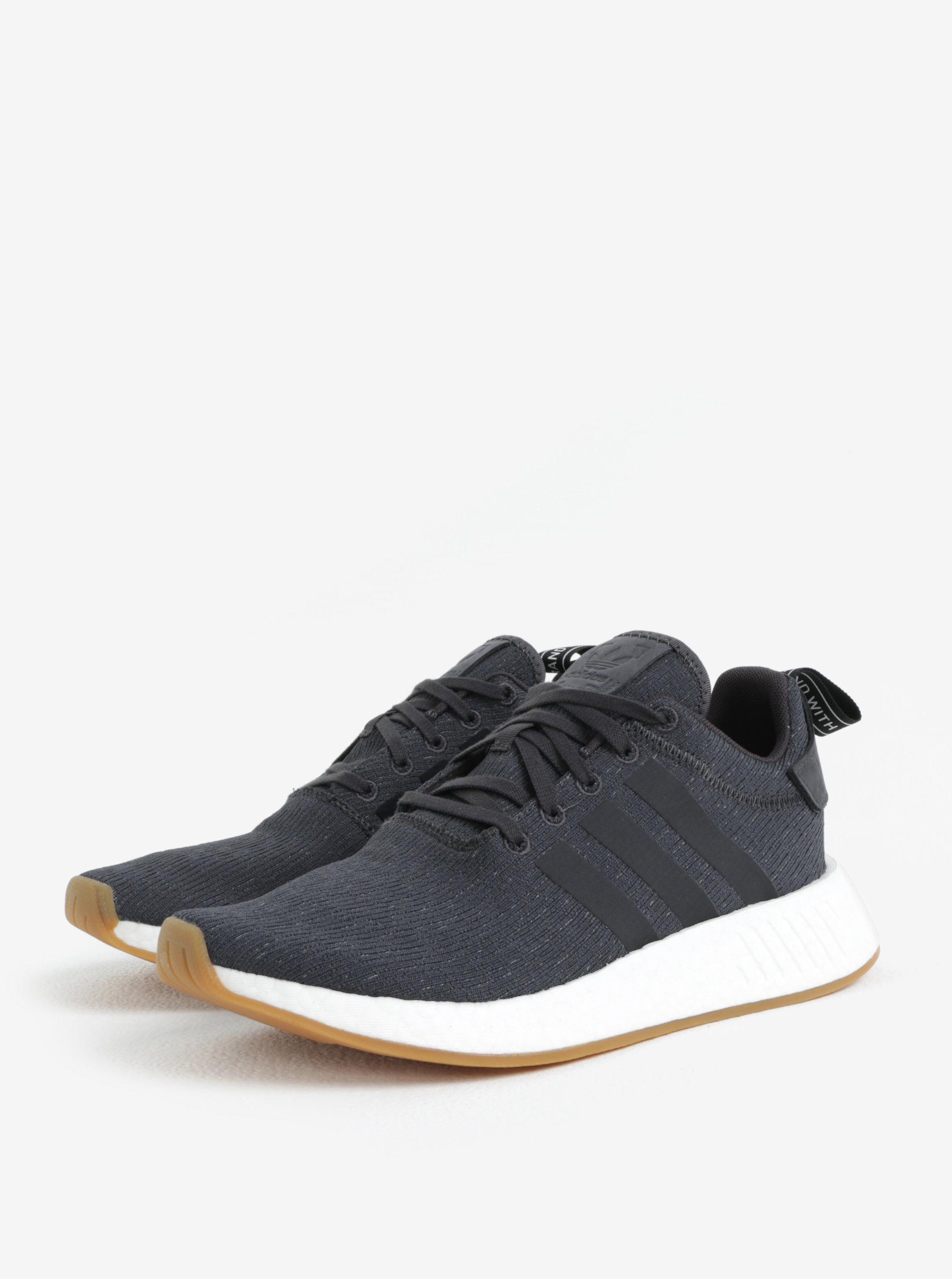 Tmavě šedé pánské tenisky adidas Originals NMD R2 ... 03343d13050