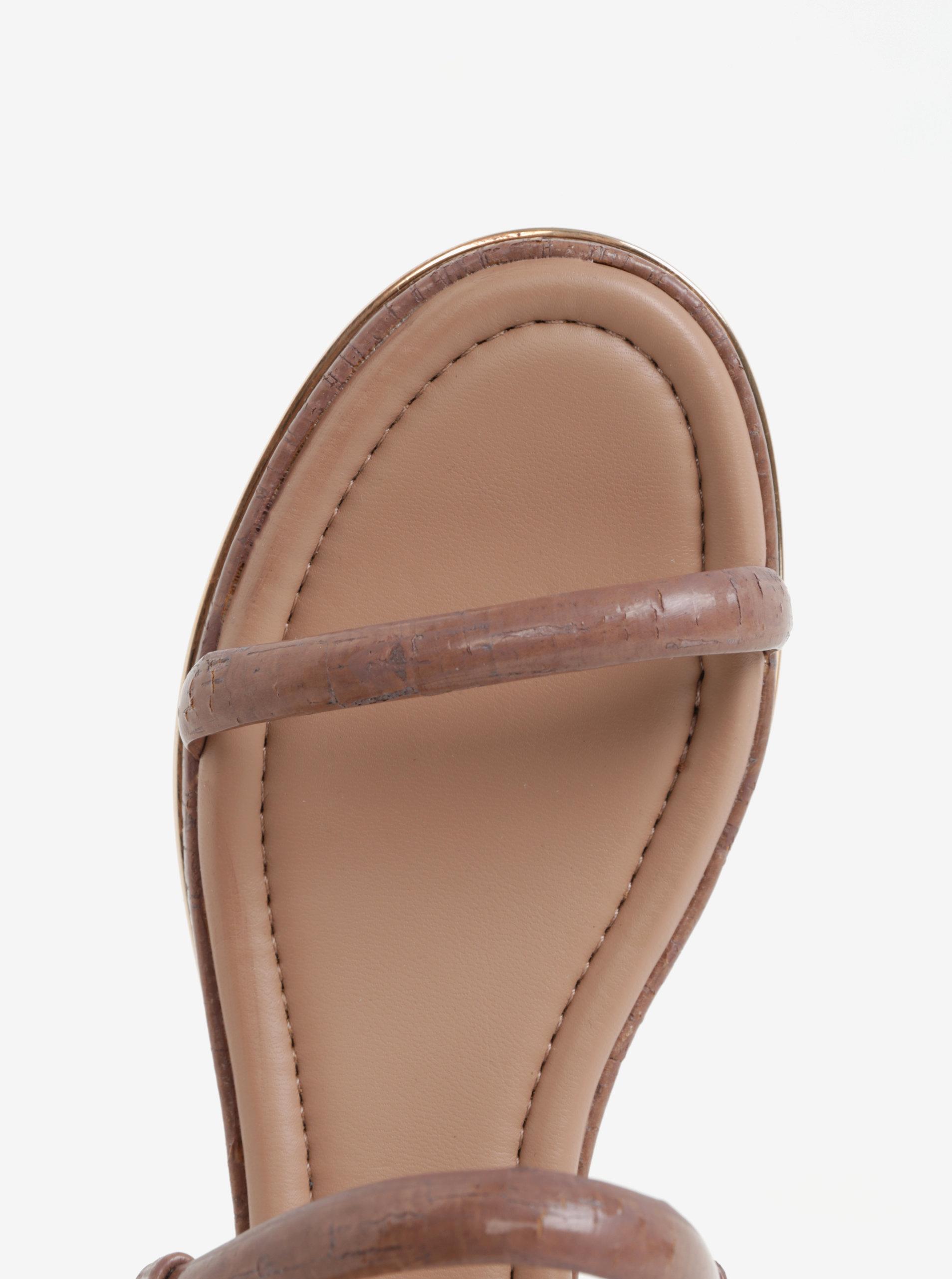 47e3978dd29 Starorůžové sandály DKNY ...