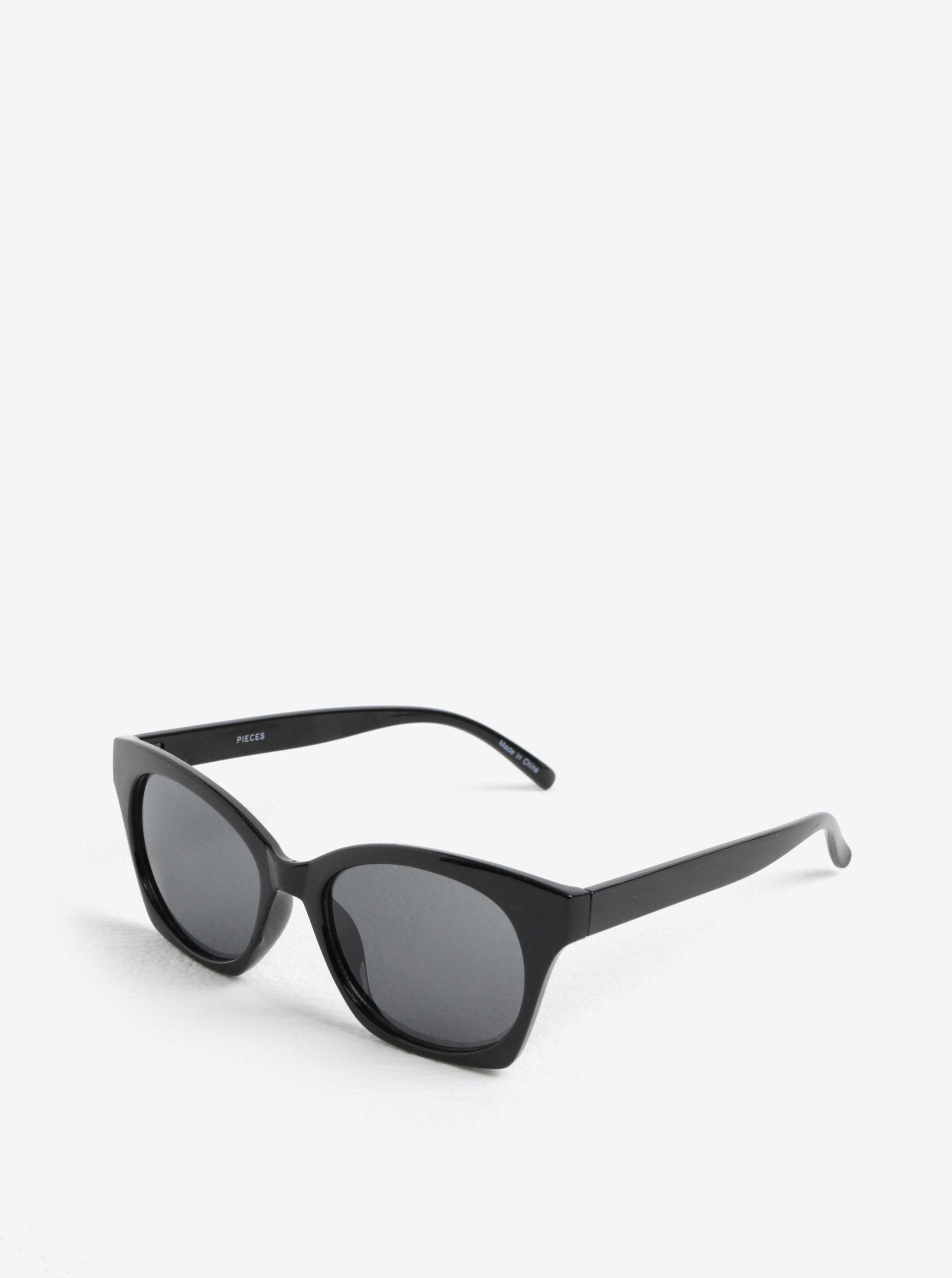 Černé sluneční brýle Pieces Inka
