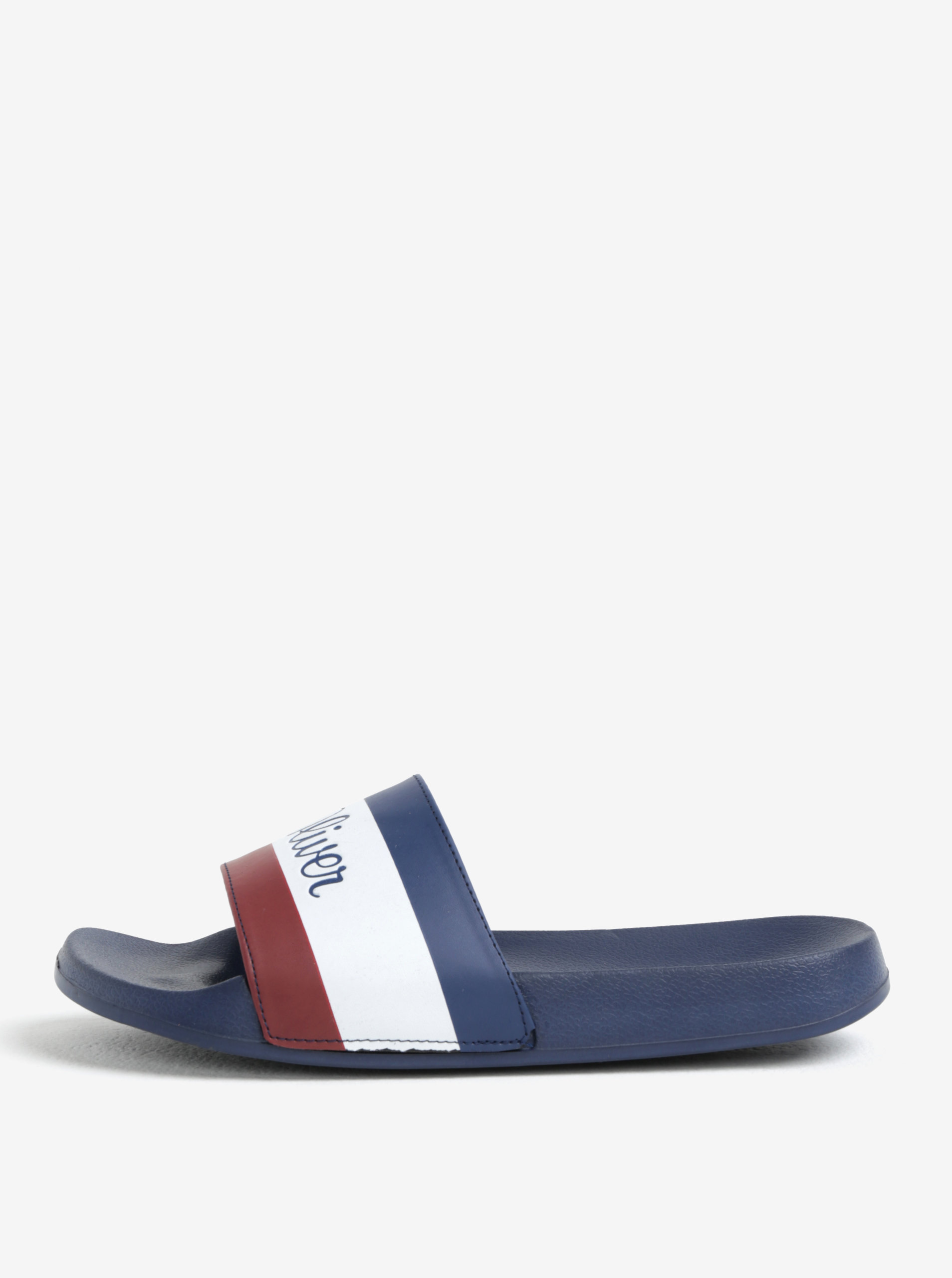 Tmavě modré pánské pantofle s logem s.Oliver