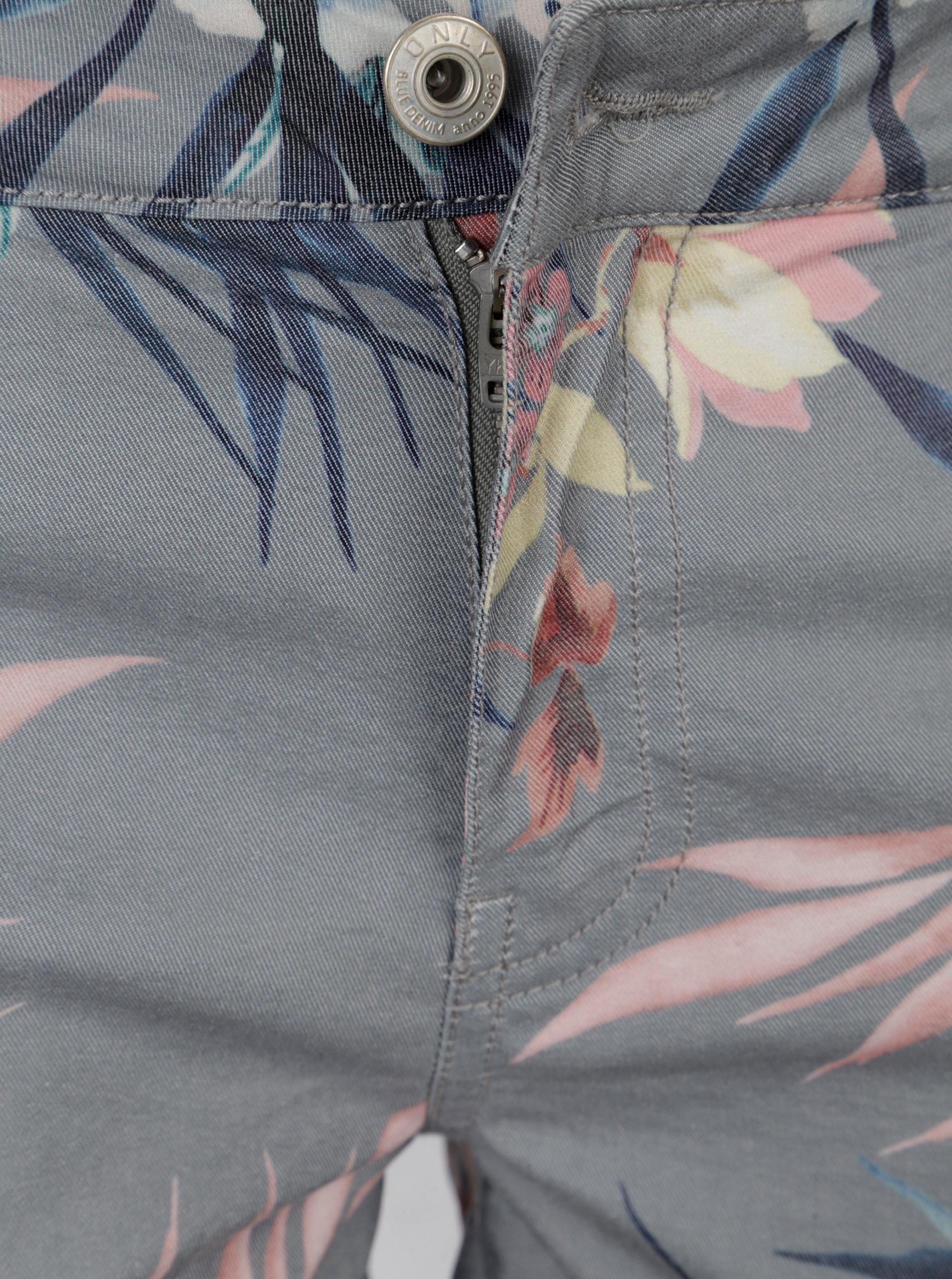 08646f9d9ff Zelené květované kraťasy ONLY Annika - Akční cena