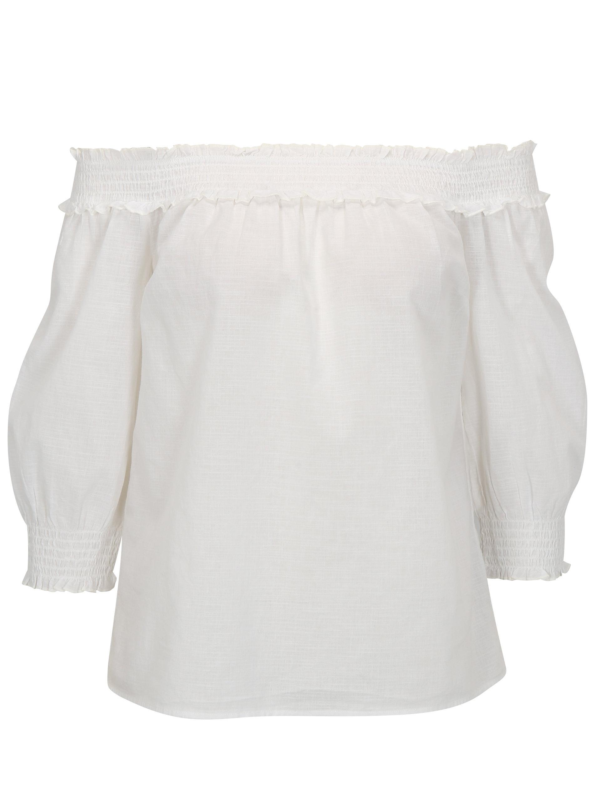 d77d259eabd4 Biela blúzka s odhalenými ramenami Dorothy Perkins ...