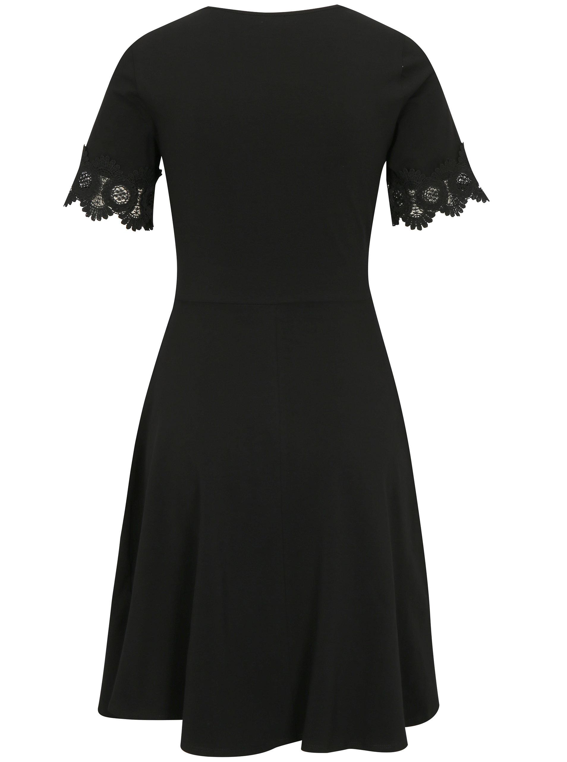 e90e08e1aea9 Čierne šaty s krátkym rukávom Dorothy Perkins ...
