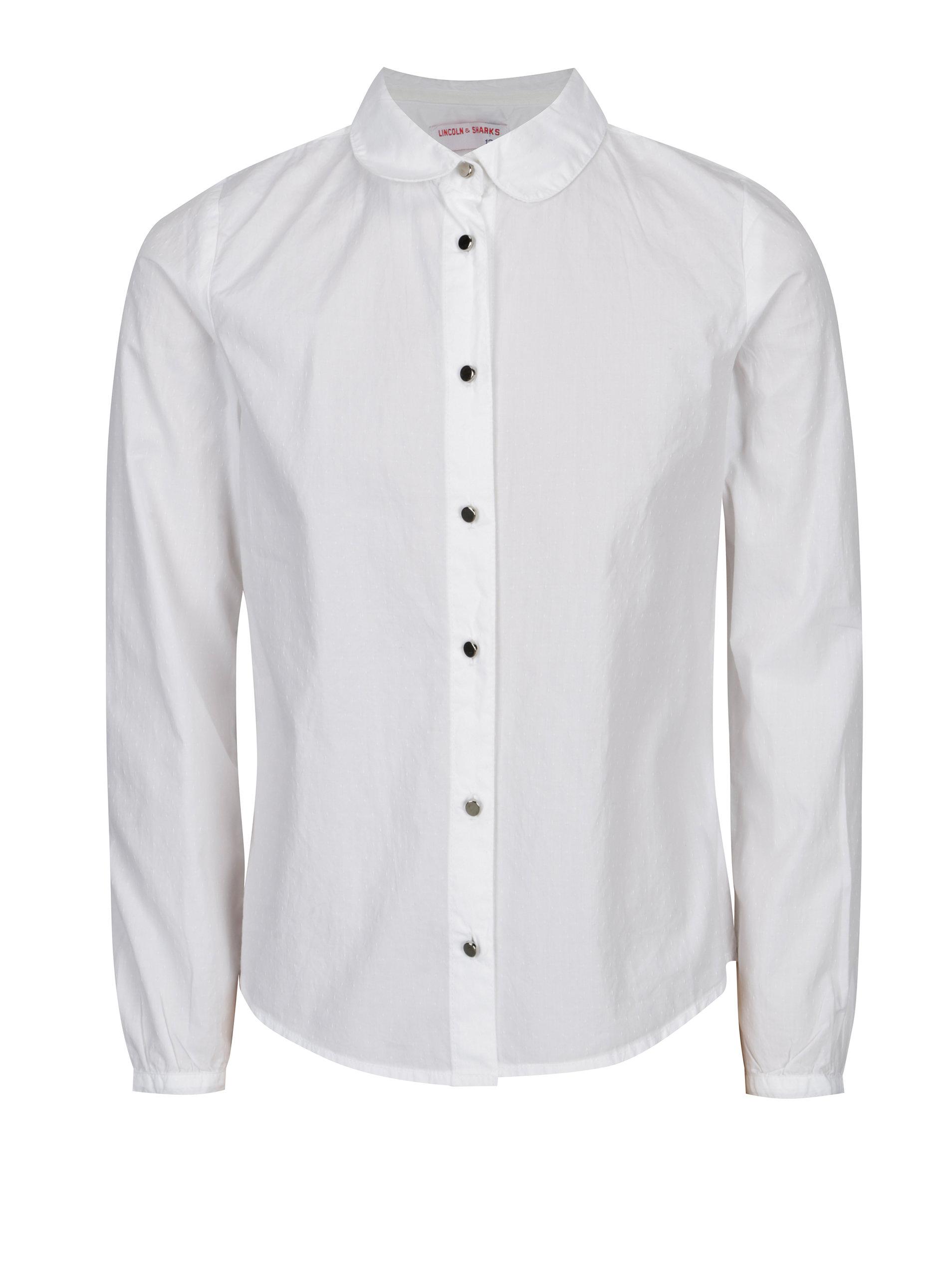 Bílá holčičí košile 5.10.15.  440487cf94