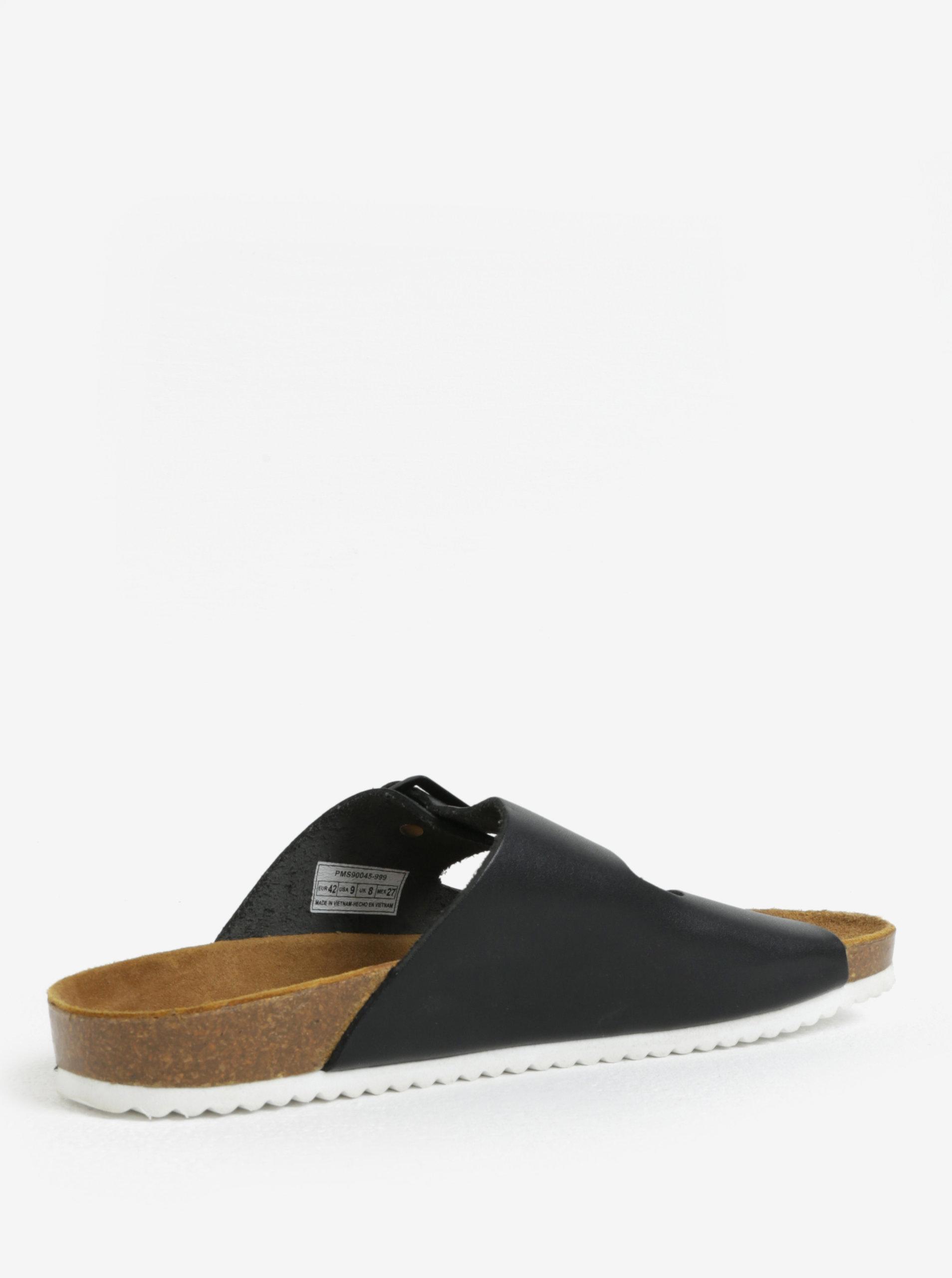 Černé pánské kožené pantofle Pepe Jeans Bio basic ... 19587d5b8a