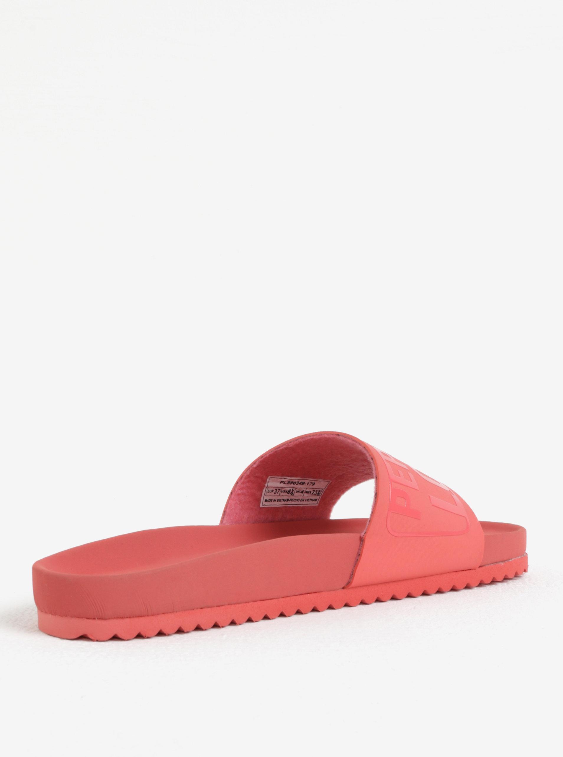 61f2d6dcf02a Koralové dámske šľapky Pepe Jeans Bio royal ...