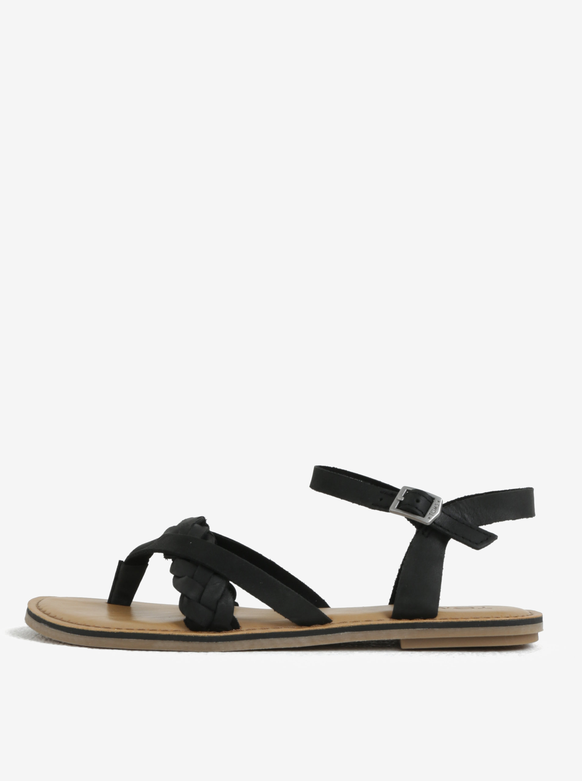 Černé dámské kožené sandály TOMS Lexie ... c1b0ed2327