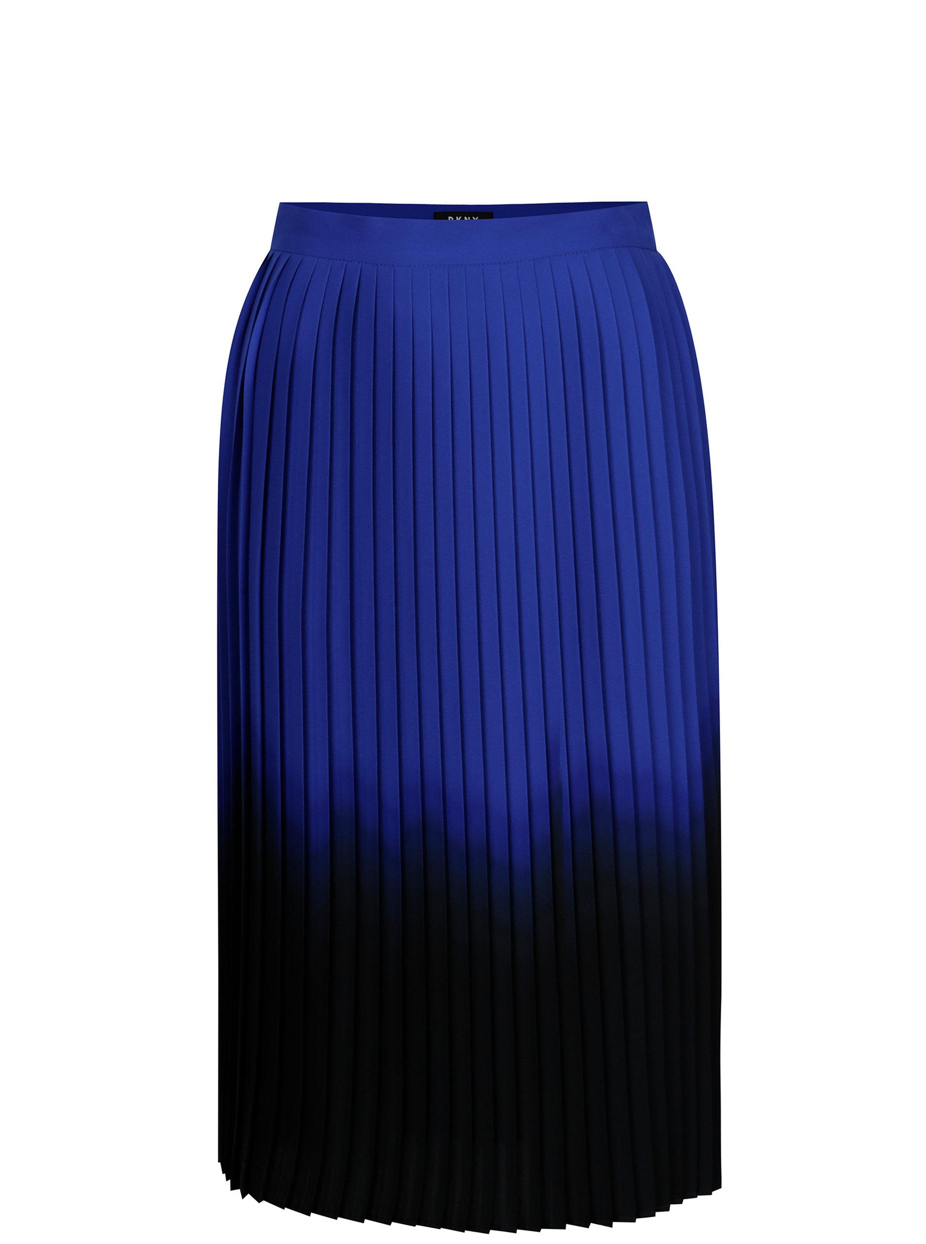 346379ece3dd Modro-čierna plisovaná sukňa DKNY ...