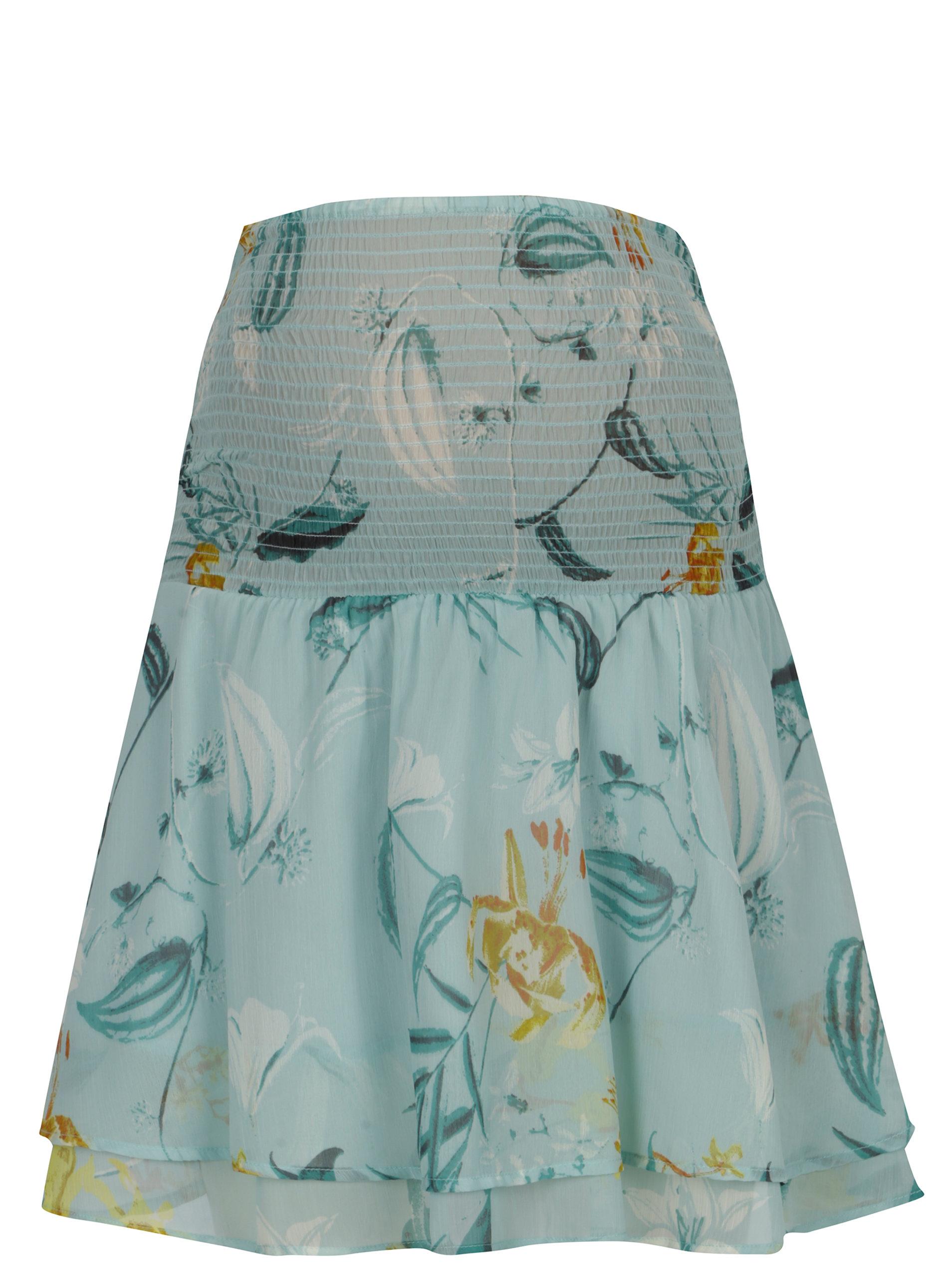 03fc8c266342 Svetlozelená tehotenská kvetovaná sukňa Mama.licious Lemonade ...