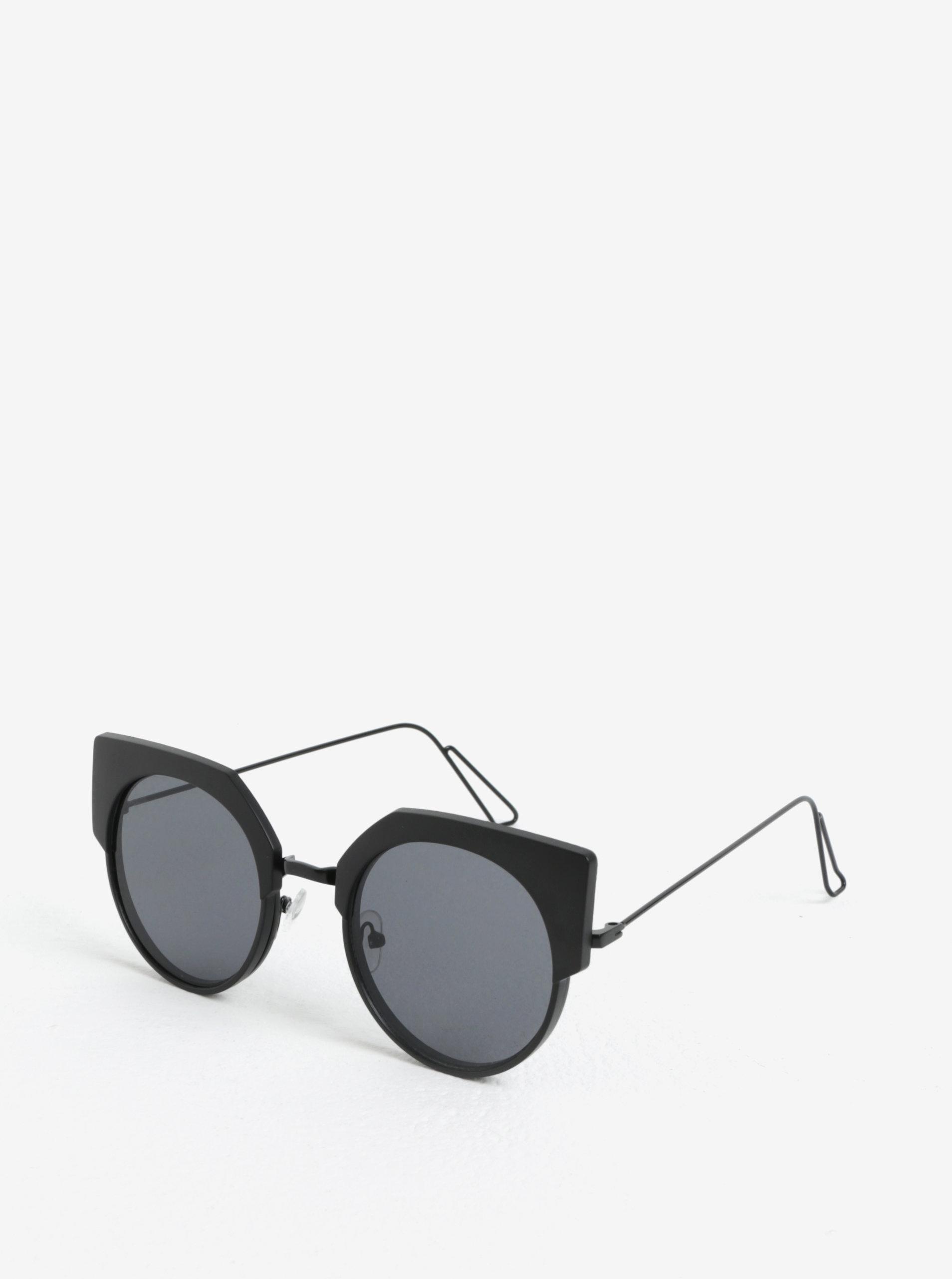 Černé dámské kulaté sluneční brýle Jeepers Peepers