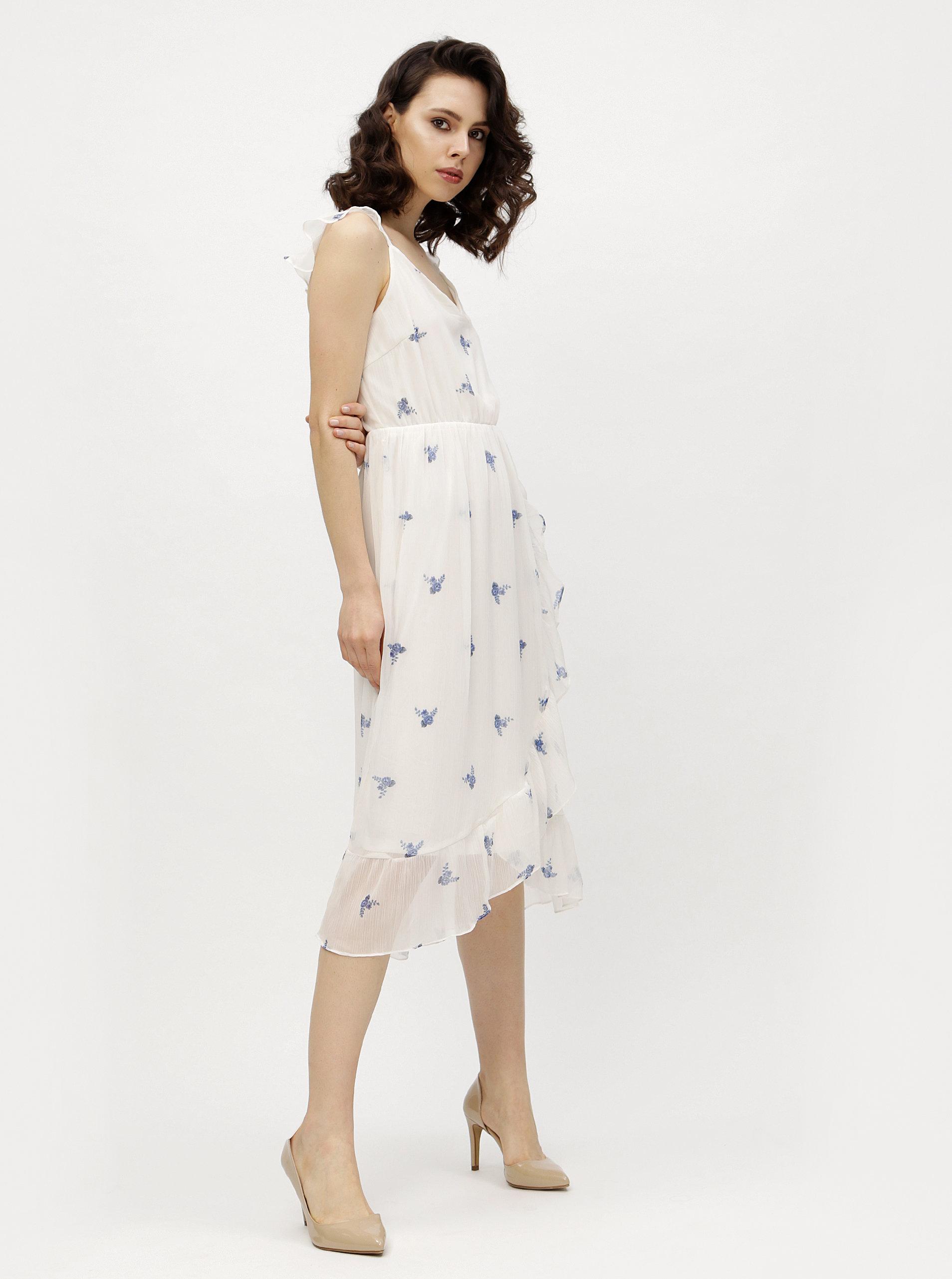 81ad8faad88d Biele kvetované šaty VERO MODA Danni ...