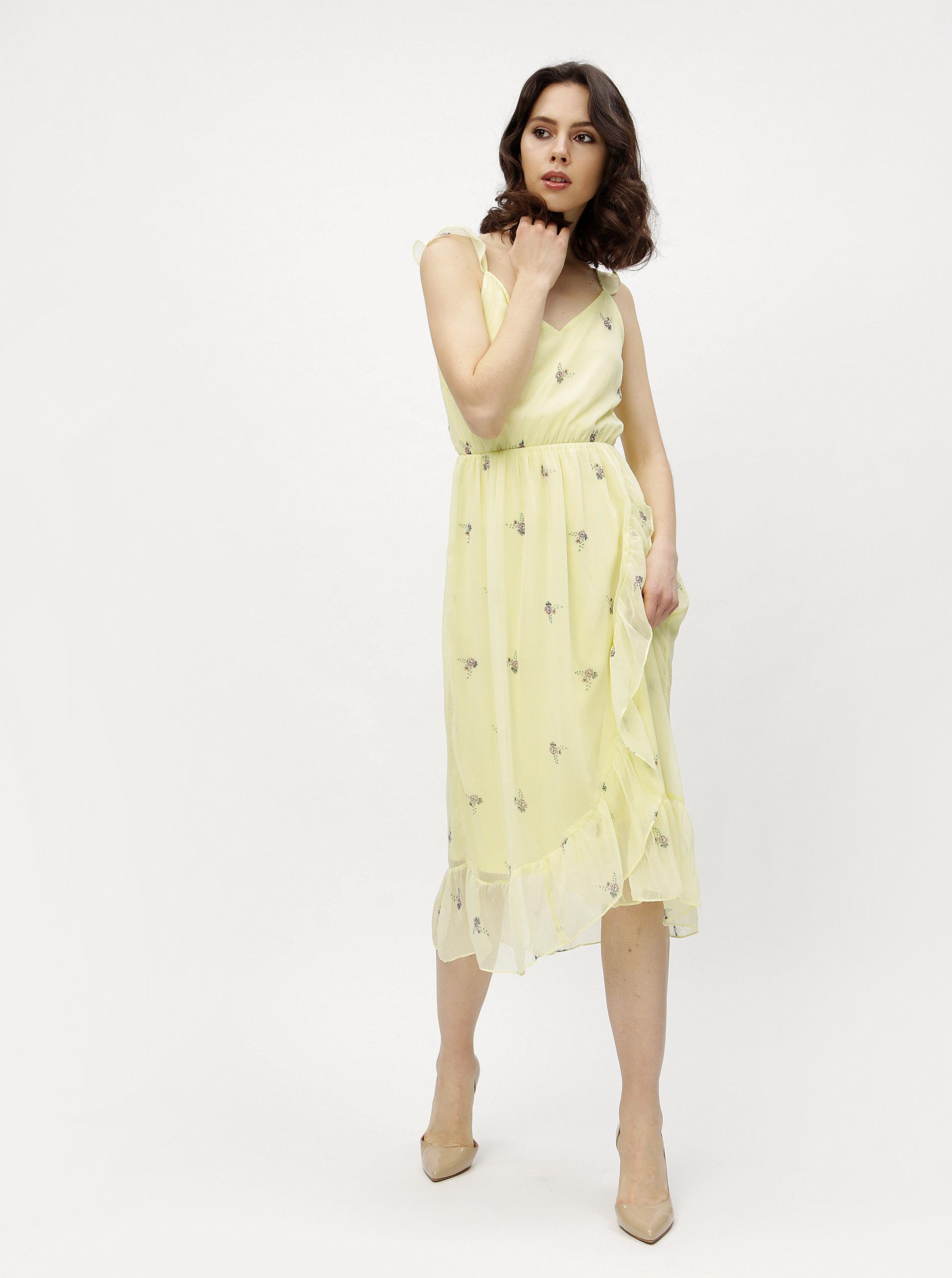 6d552d66496f Žlté kvetované šaty VERO MODA Danni ...