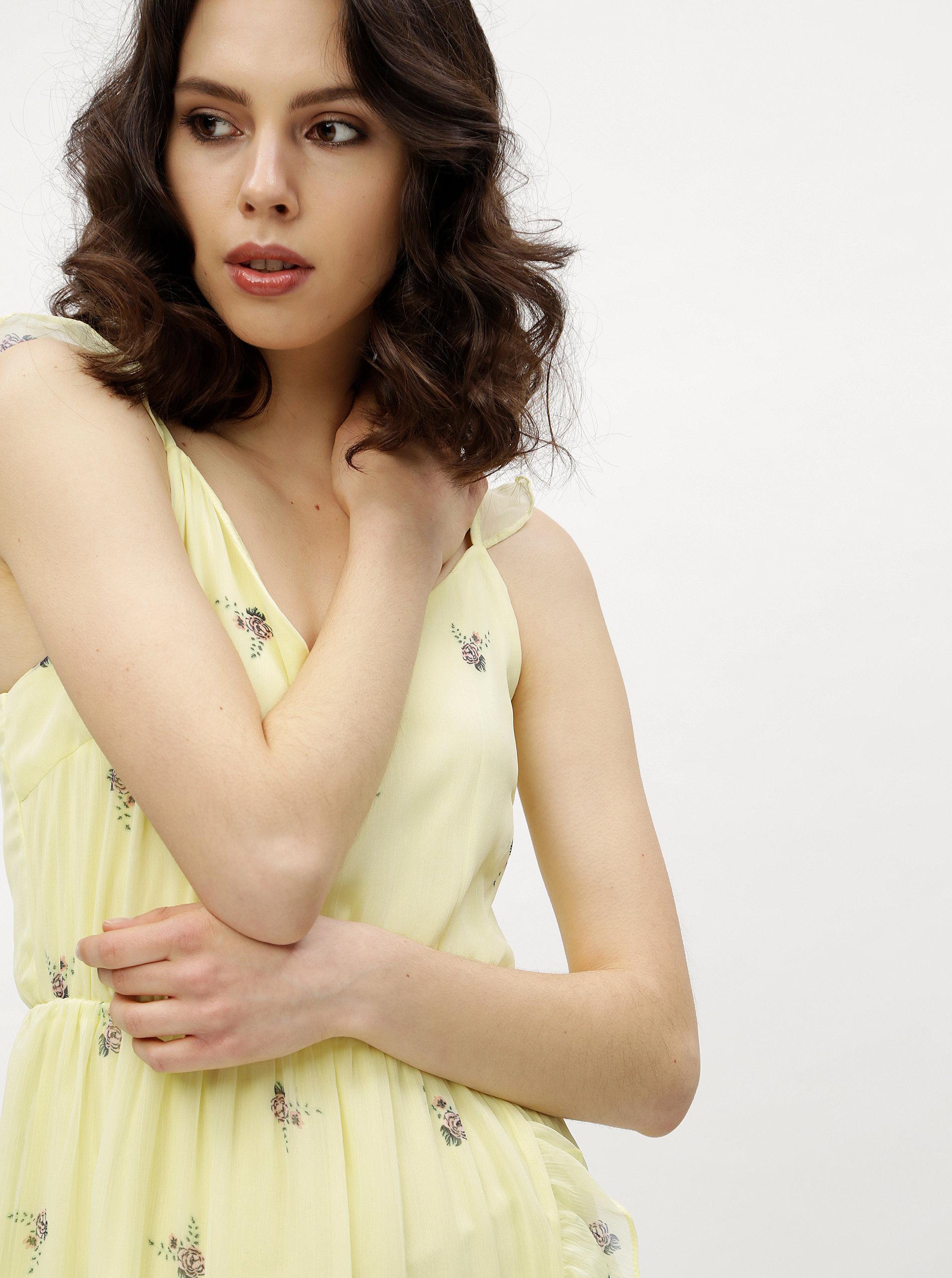 8277c711697 Žluté květované šaty VERO MODA Danni ...