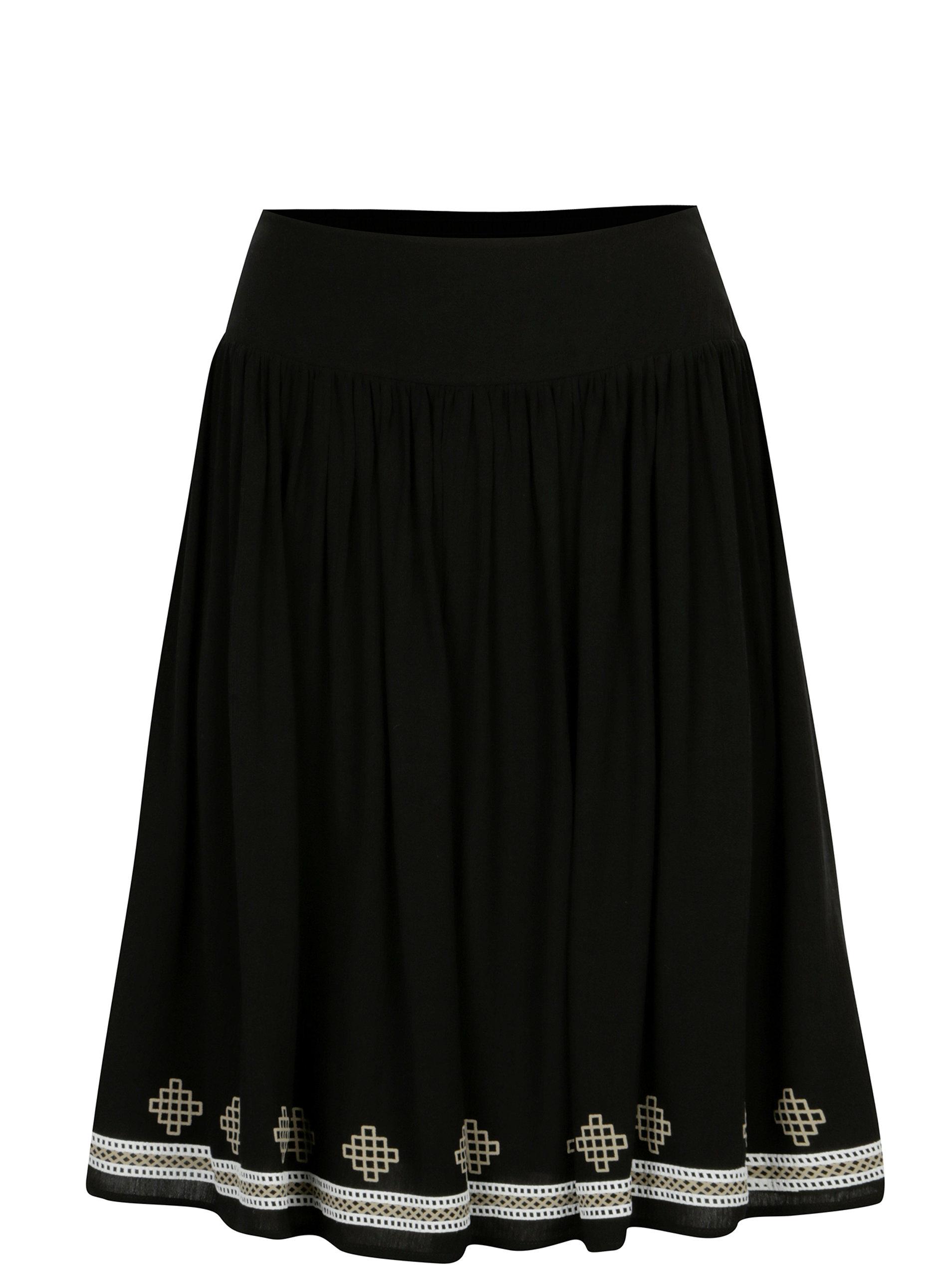 a0024611a41f Černá sukně s potiskem Yest ...