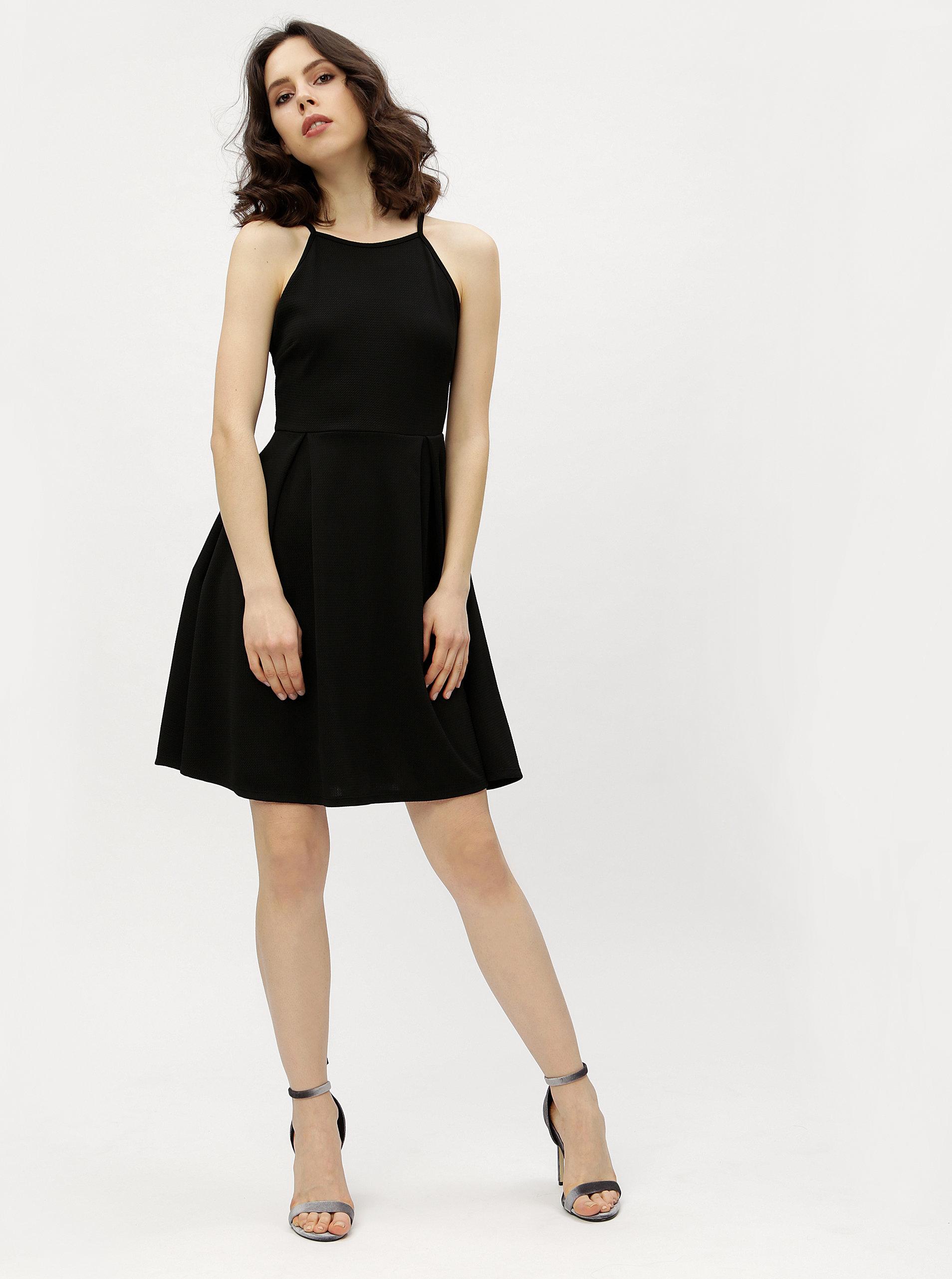 7b7fa078cd16 Čierne šaty na ramienka Haily s Lolly ...