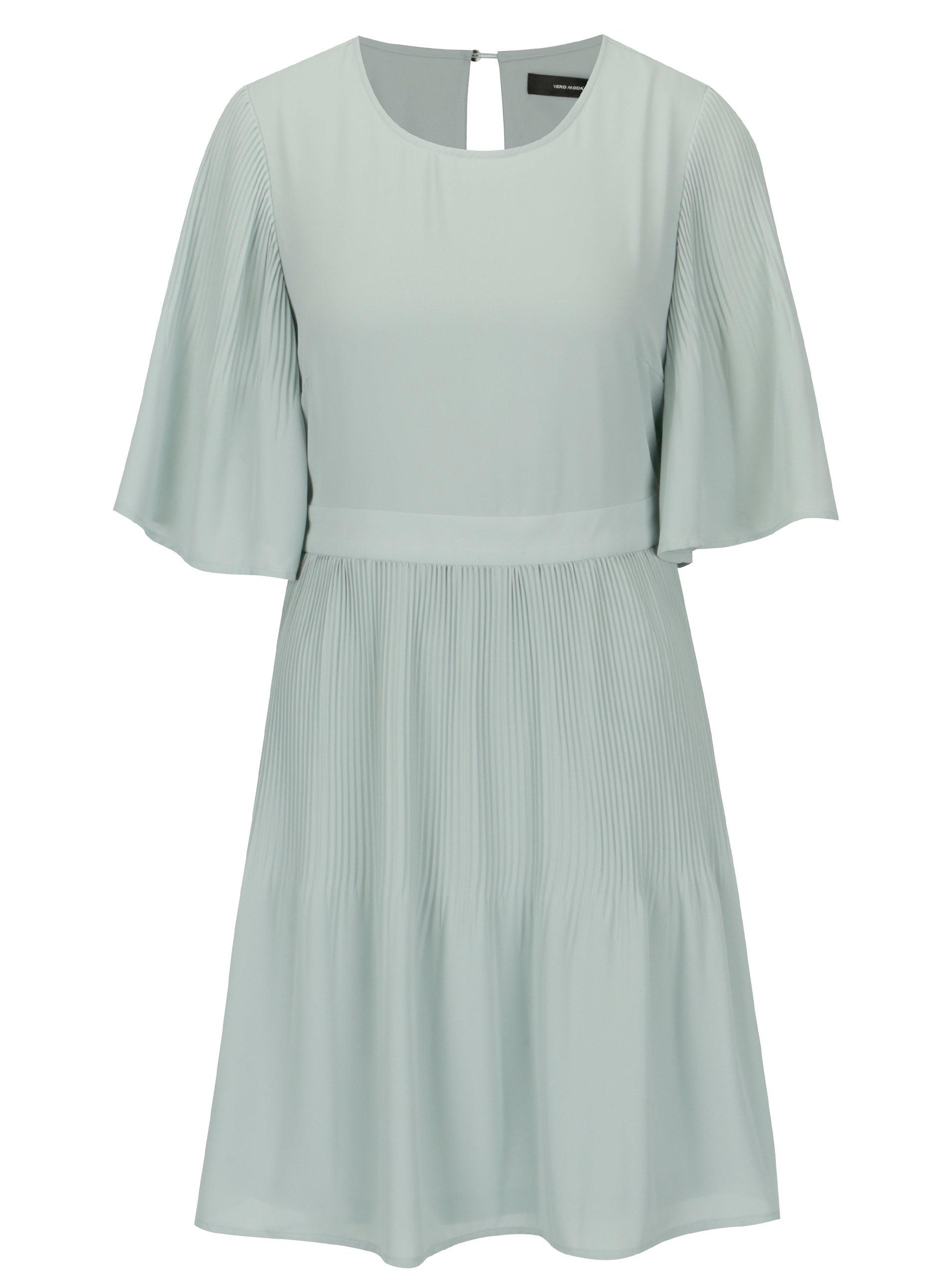 27f4b83bf46b Svetlozelené šaty s 3 4 rukávom VERO MODA Amanda ...