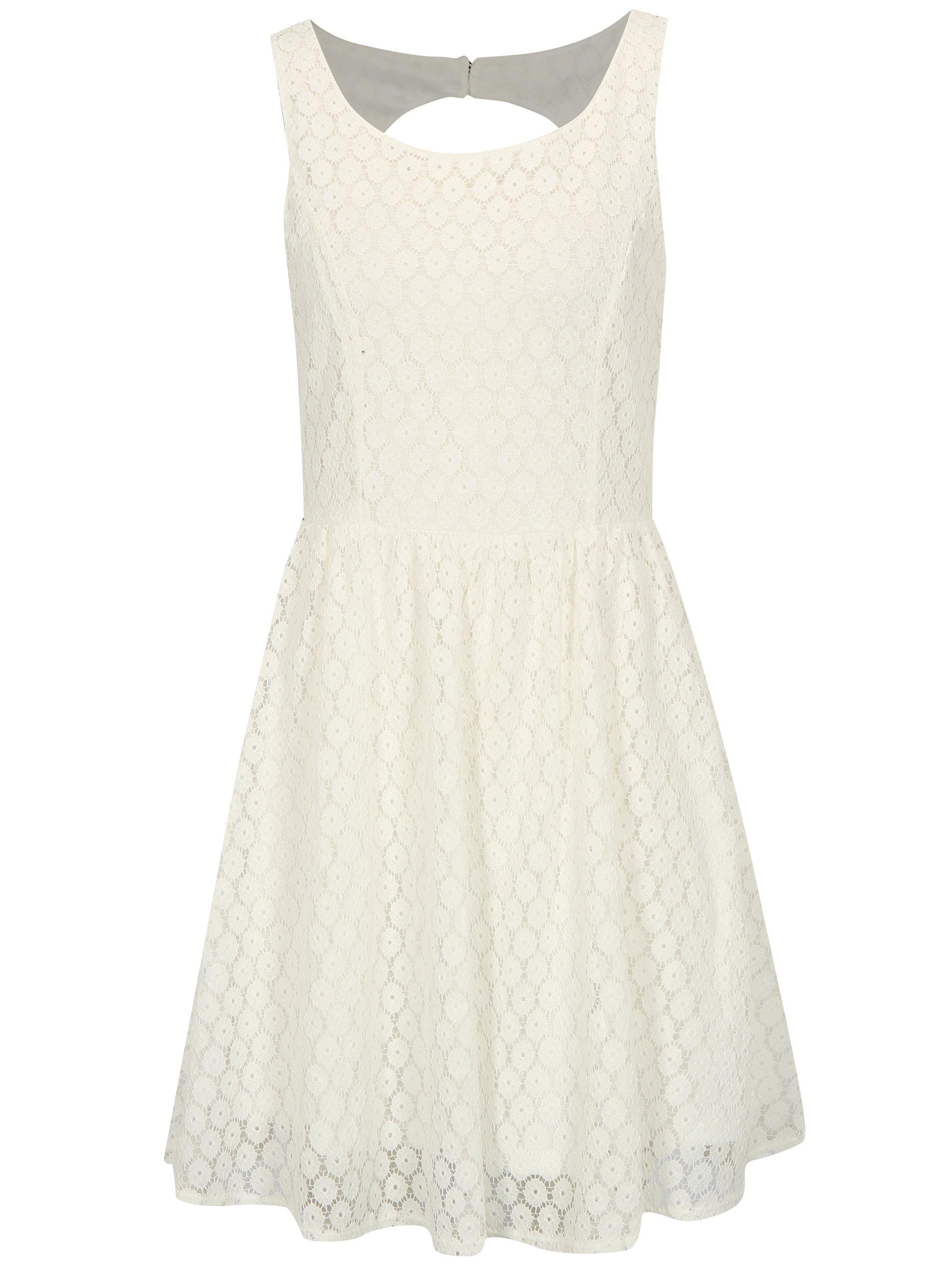 Biele čipkované šaty s prestrihom na chrbte Haily s Lilly ... 65e770e6614