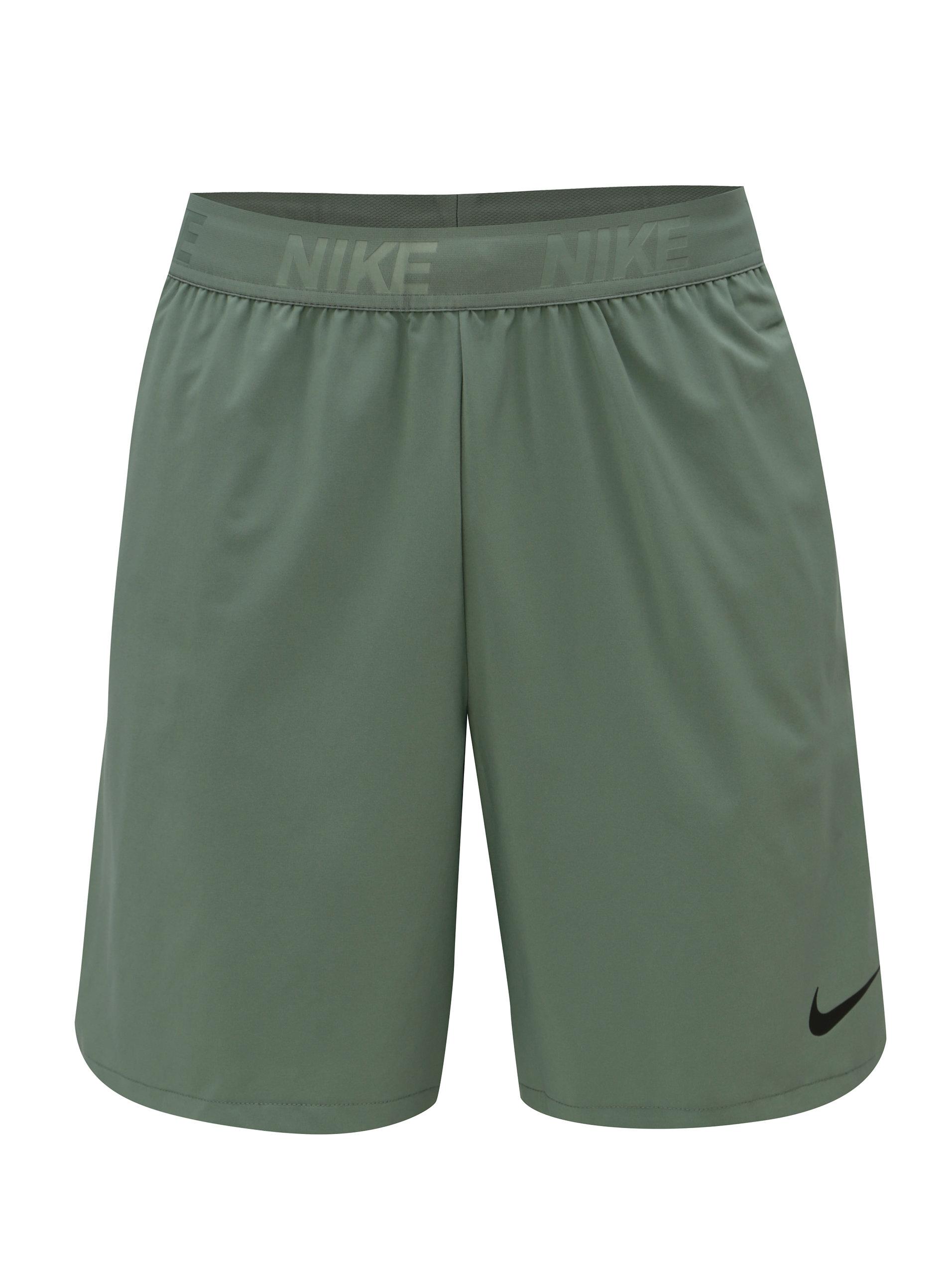 Zelené pánske standart fit kraťasy Nike FLEX ... e12a45dbf32