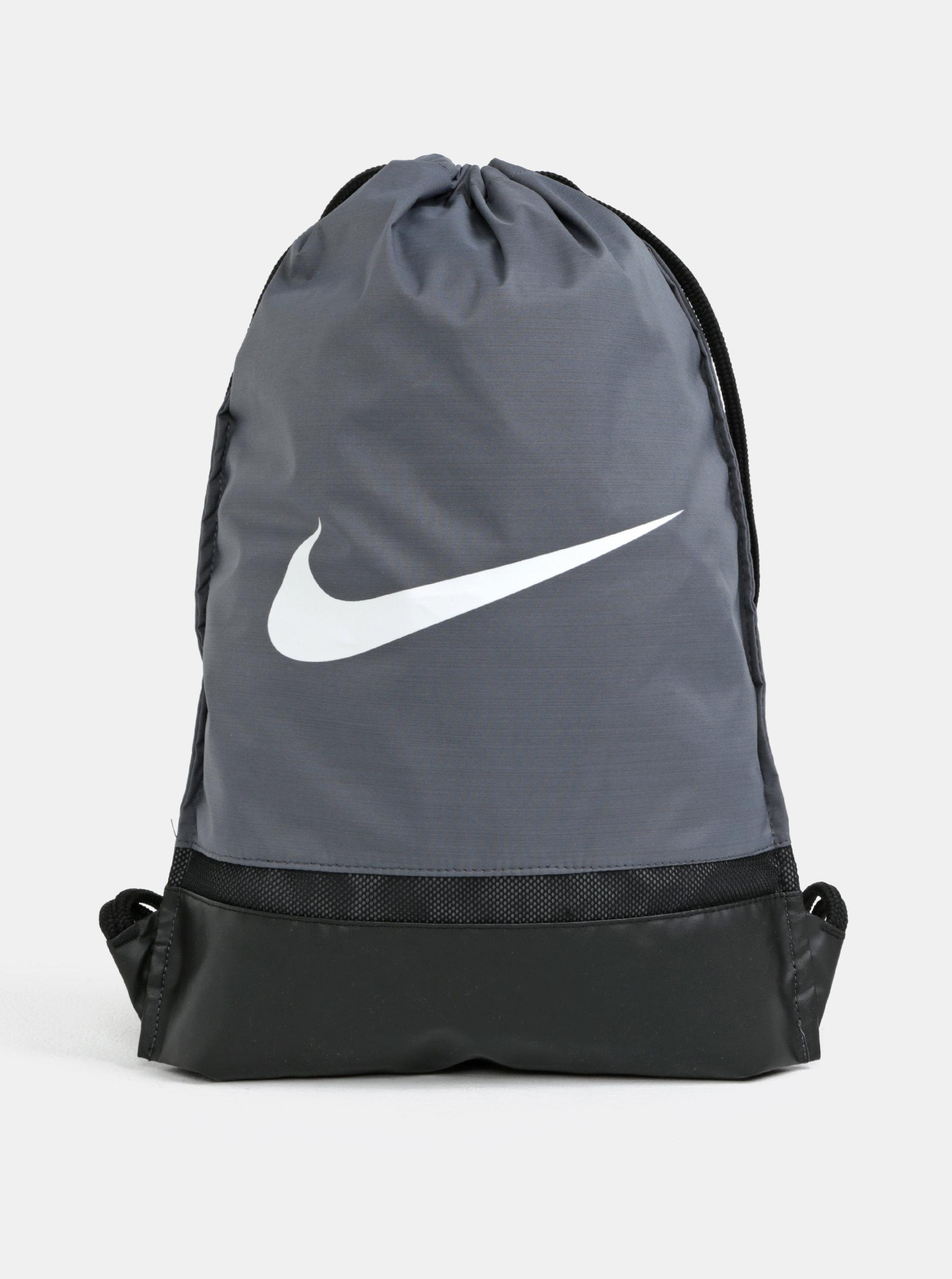 Šedý voděodolný vak Nike Brasilia