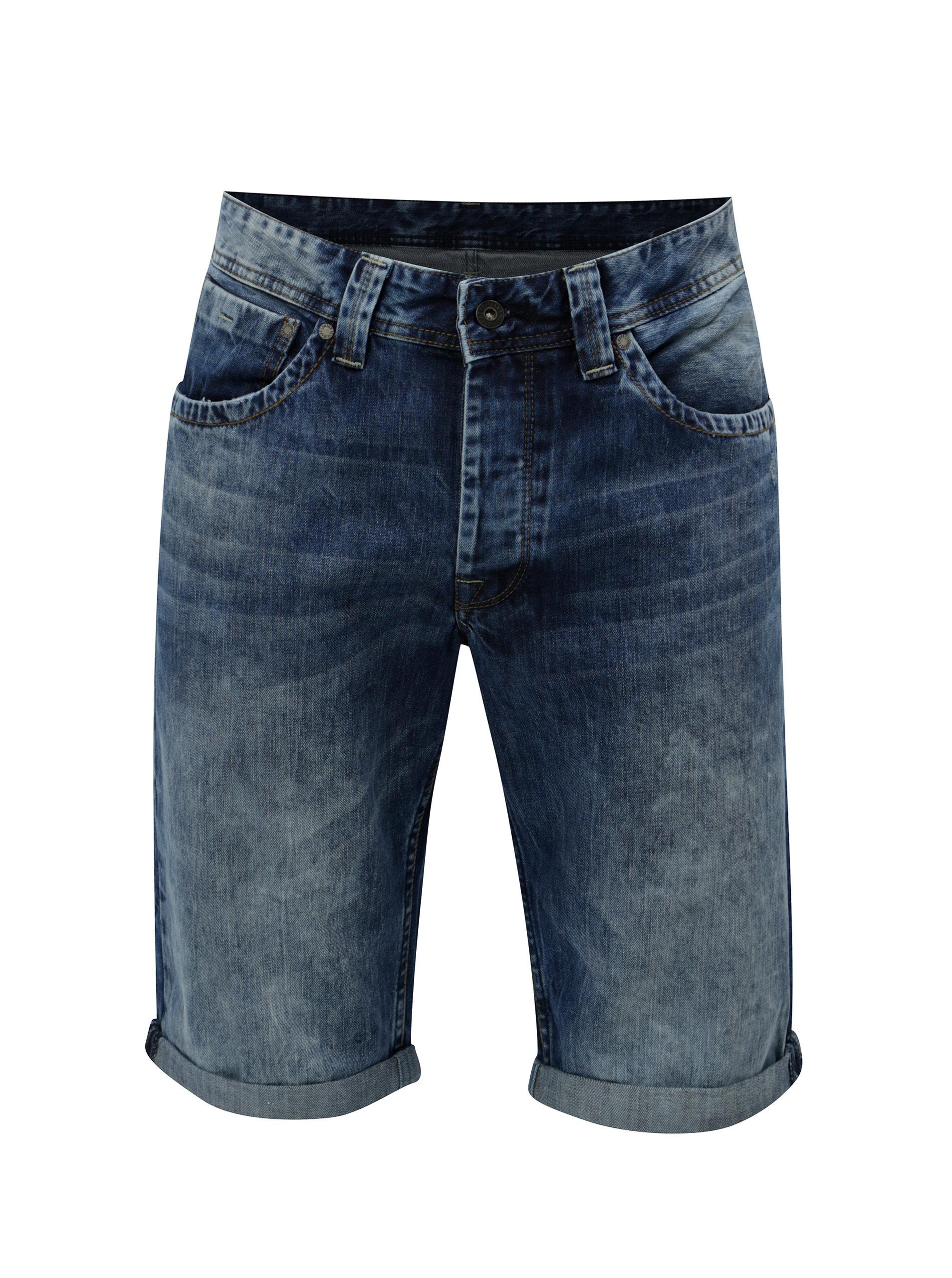 a8ce5885e61 Tmavě modré pánské džínové kraťasy Pepe Jeans Crash short ...