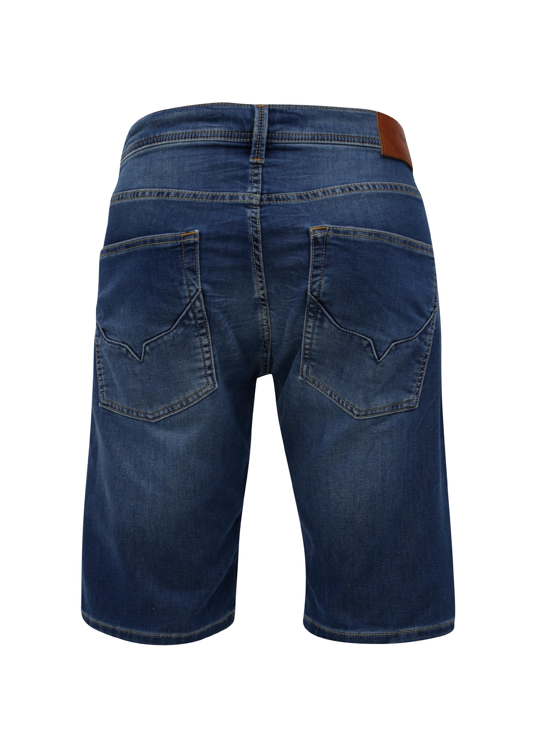 Modré pánské džínové regular kraťasy Pepe Jeans Track short ... 4a1ac20d8e