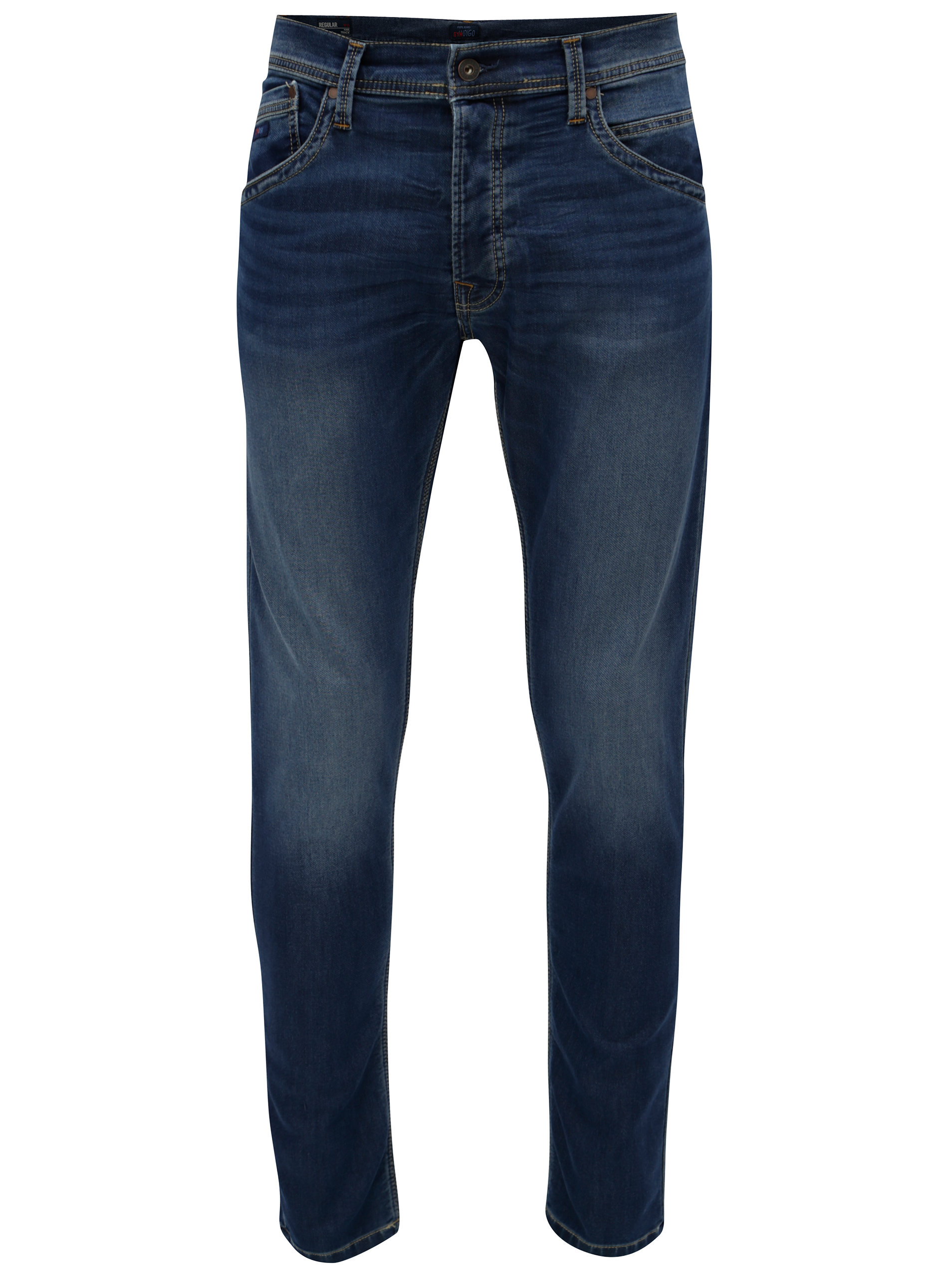 Modré pánské regular džíny Pepe Jeans Track ... 95d816b2ab