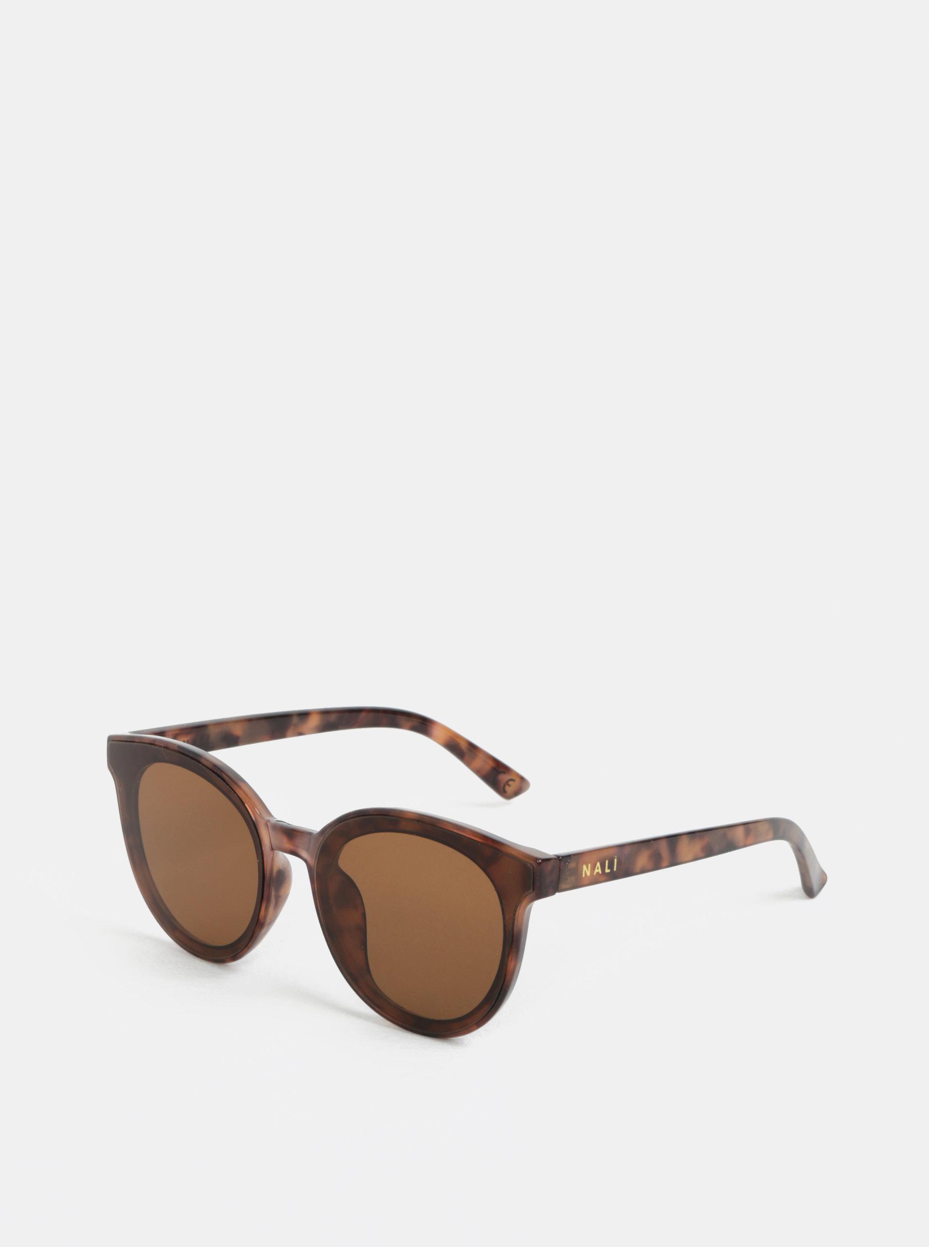 Hnědé vzorované sluneční brýle Nalí