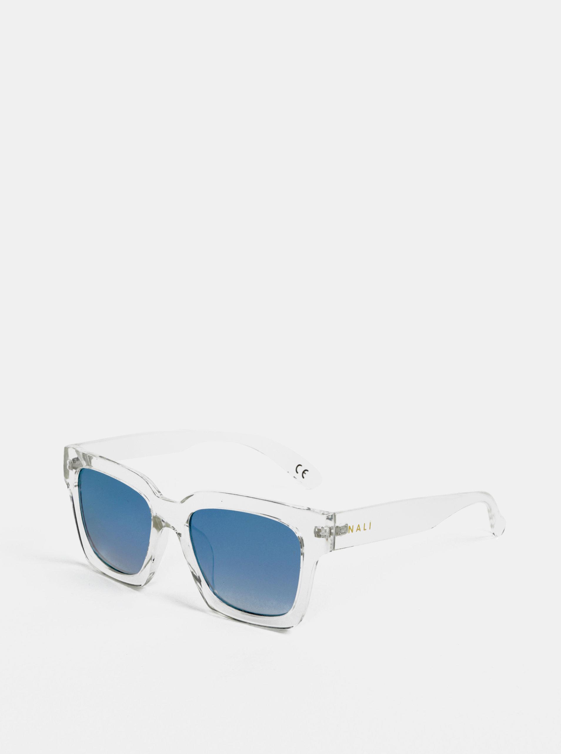 Svetlosivé transparentné slnečné okuliare Nalí ... 2b0c2ea0026