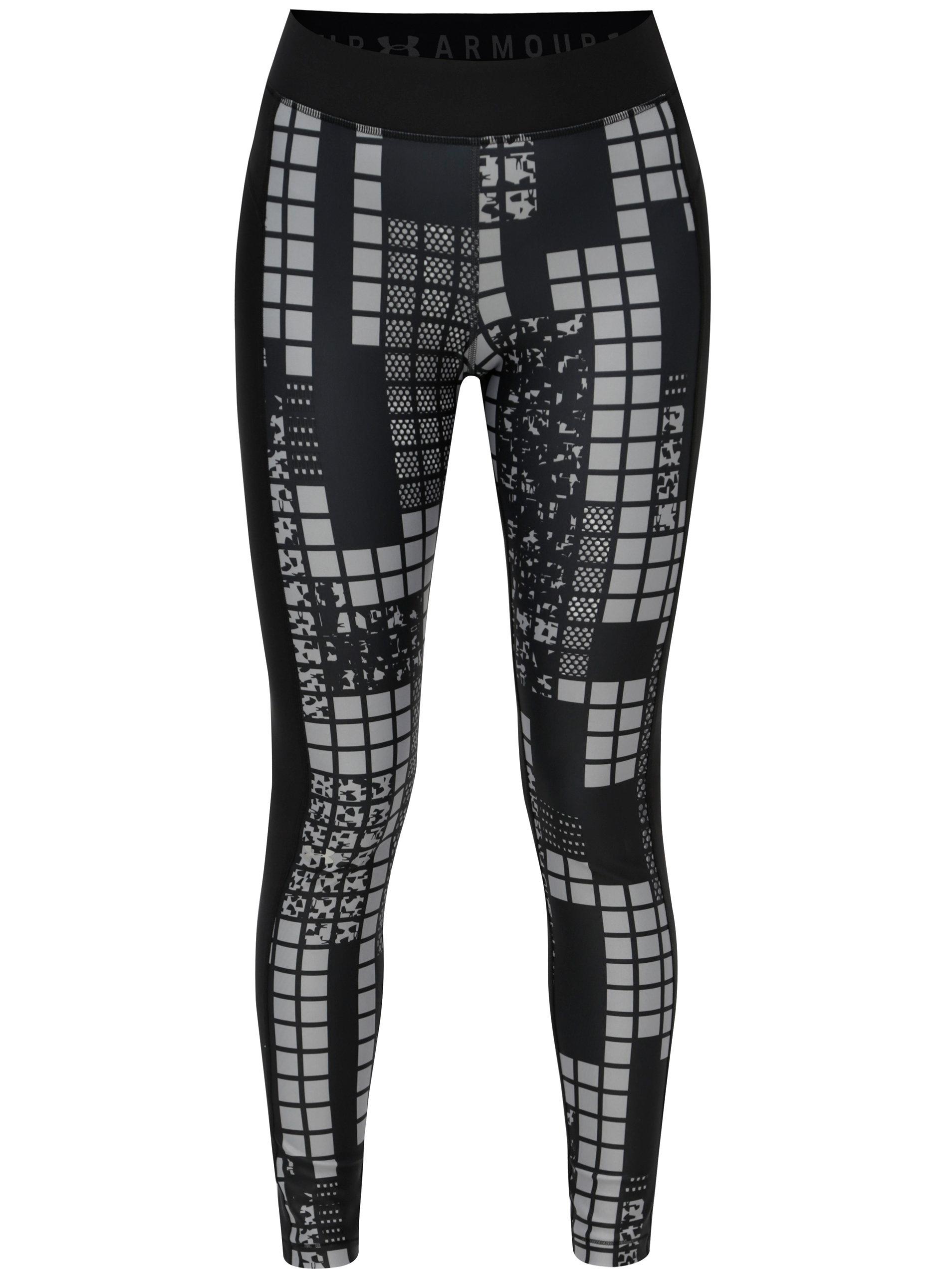 31e633a951b5 Čierne vzorované dámske športové legíny Under Armour ...