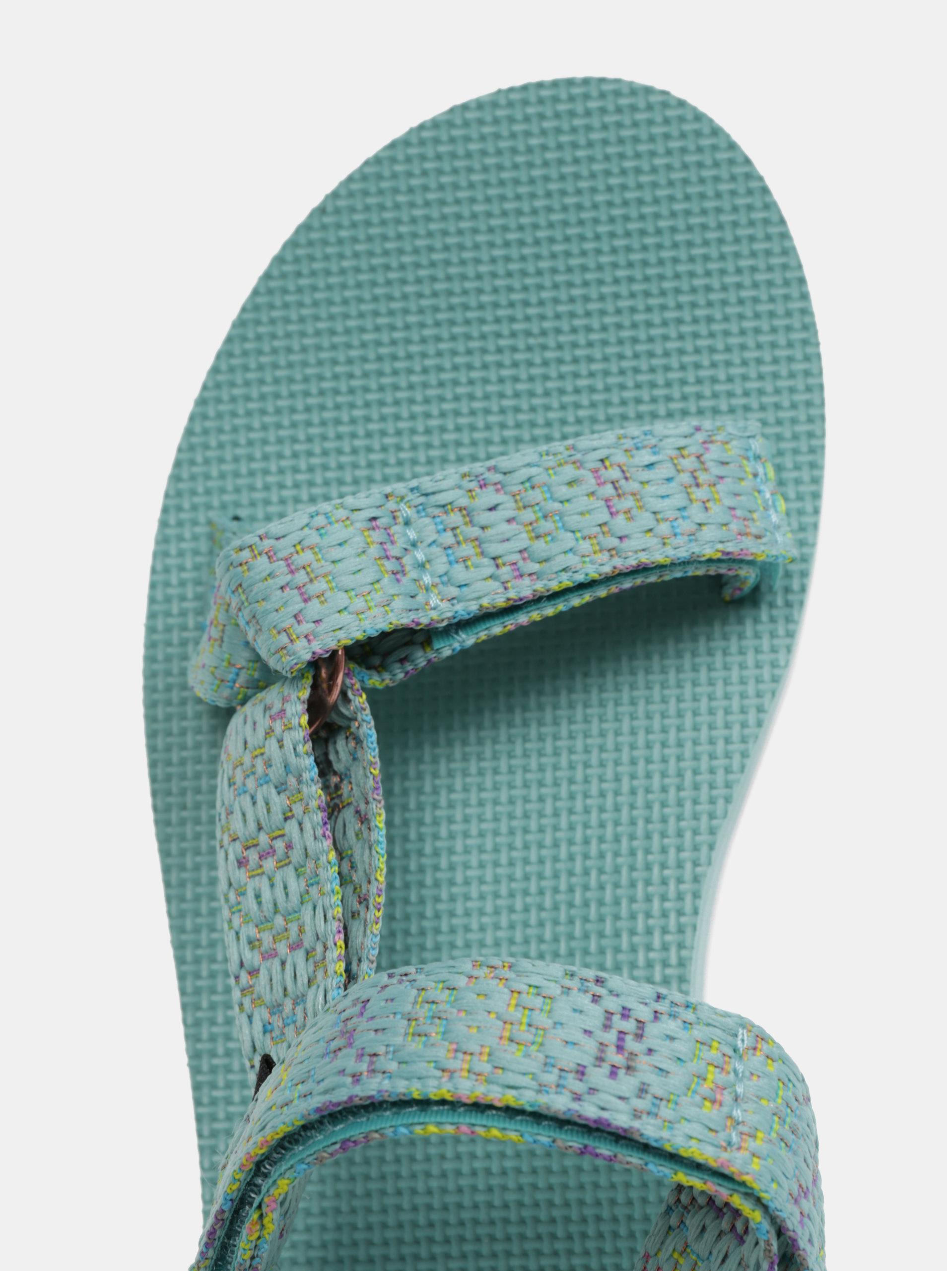 Mentolové dámské vzorované sandály na platformě Teva - Akční cena ... c841b989fd