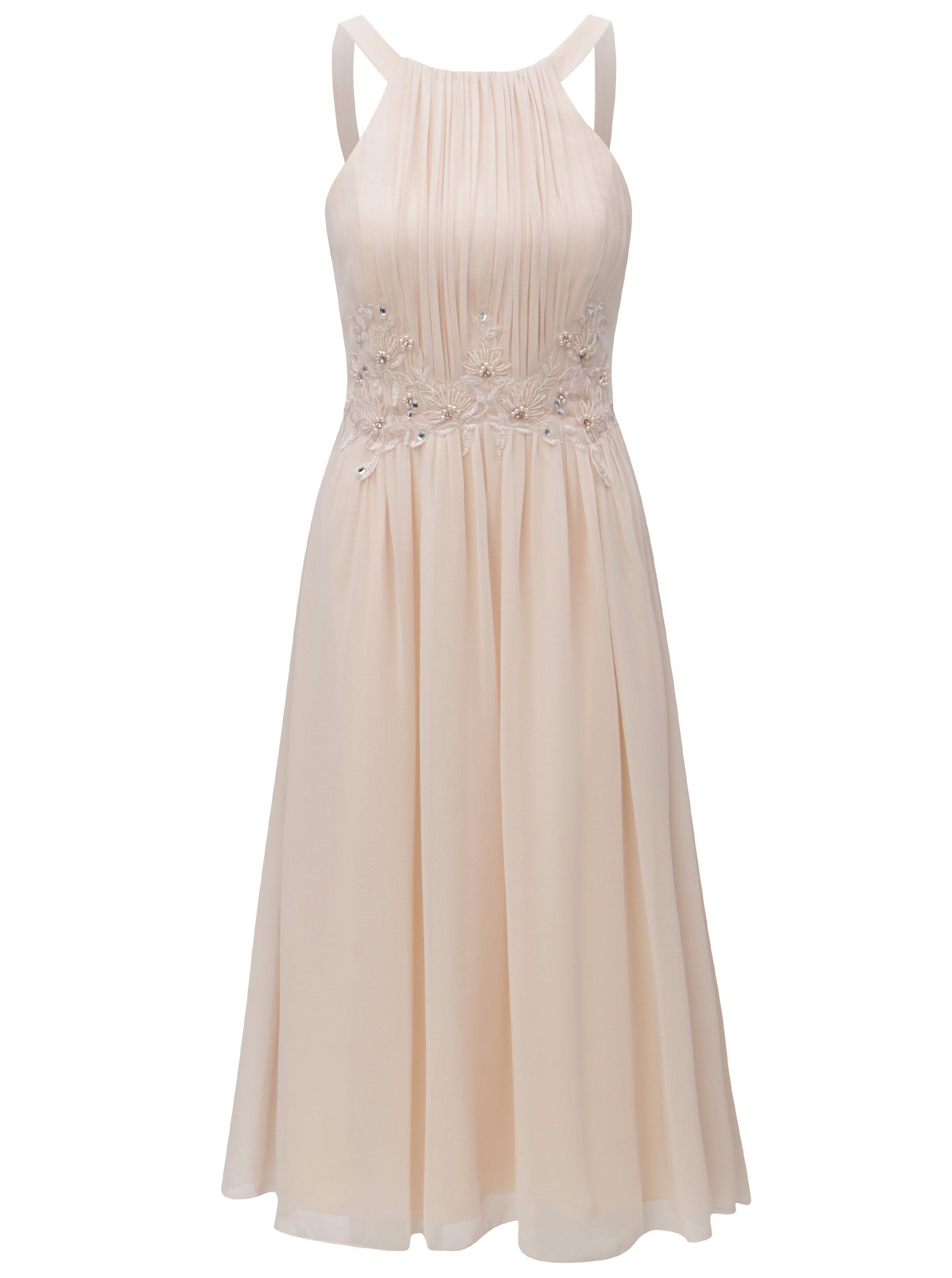 26b8f74aa14c Světle růžové šaty s korálky Little Mistress - Akční cena