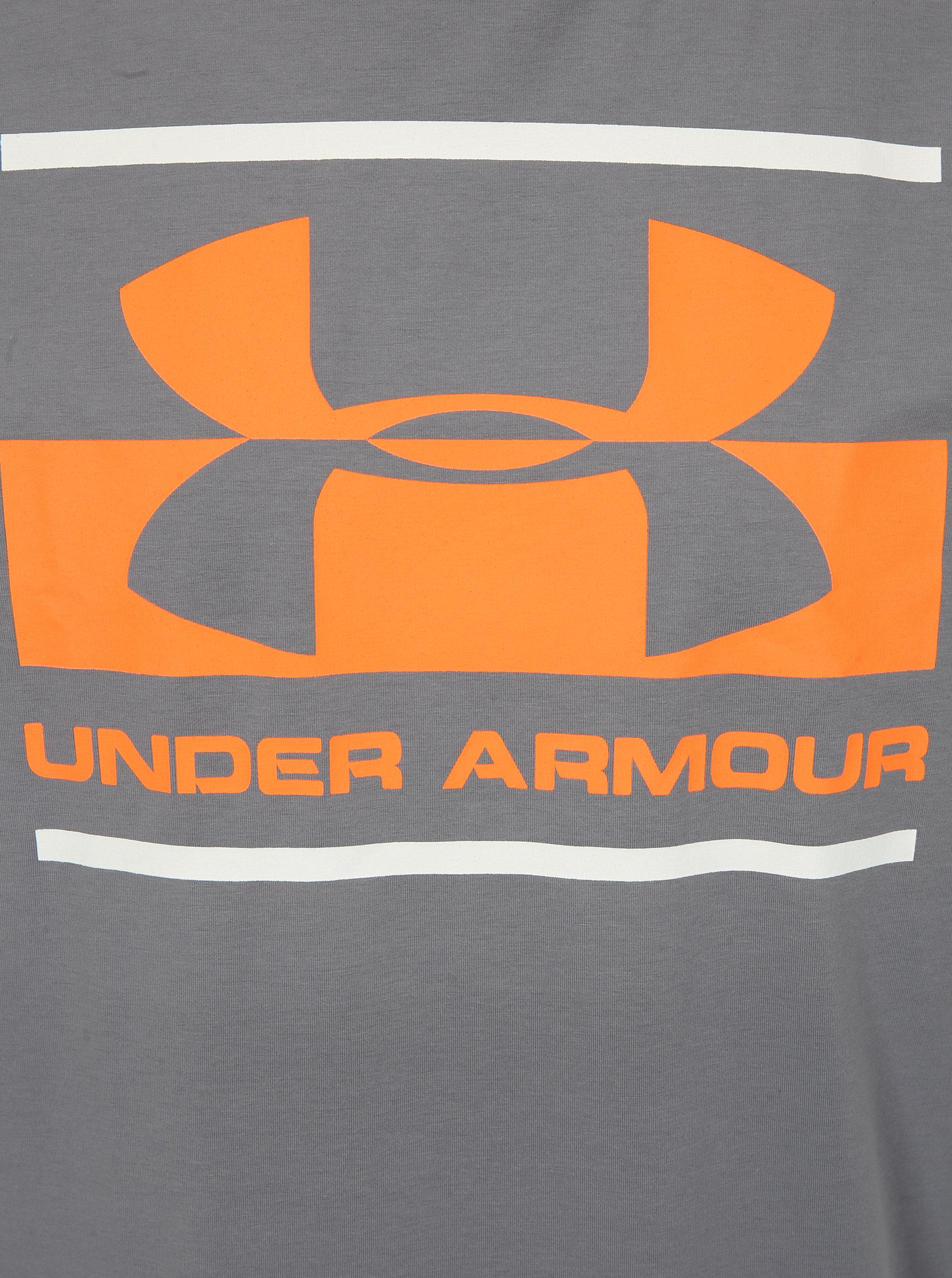 8fe1231eed1e Sivé pánske funkčné tričko s potlačou Under Armour ...
