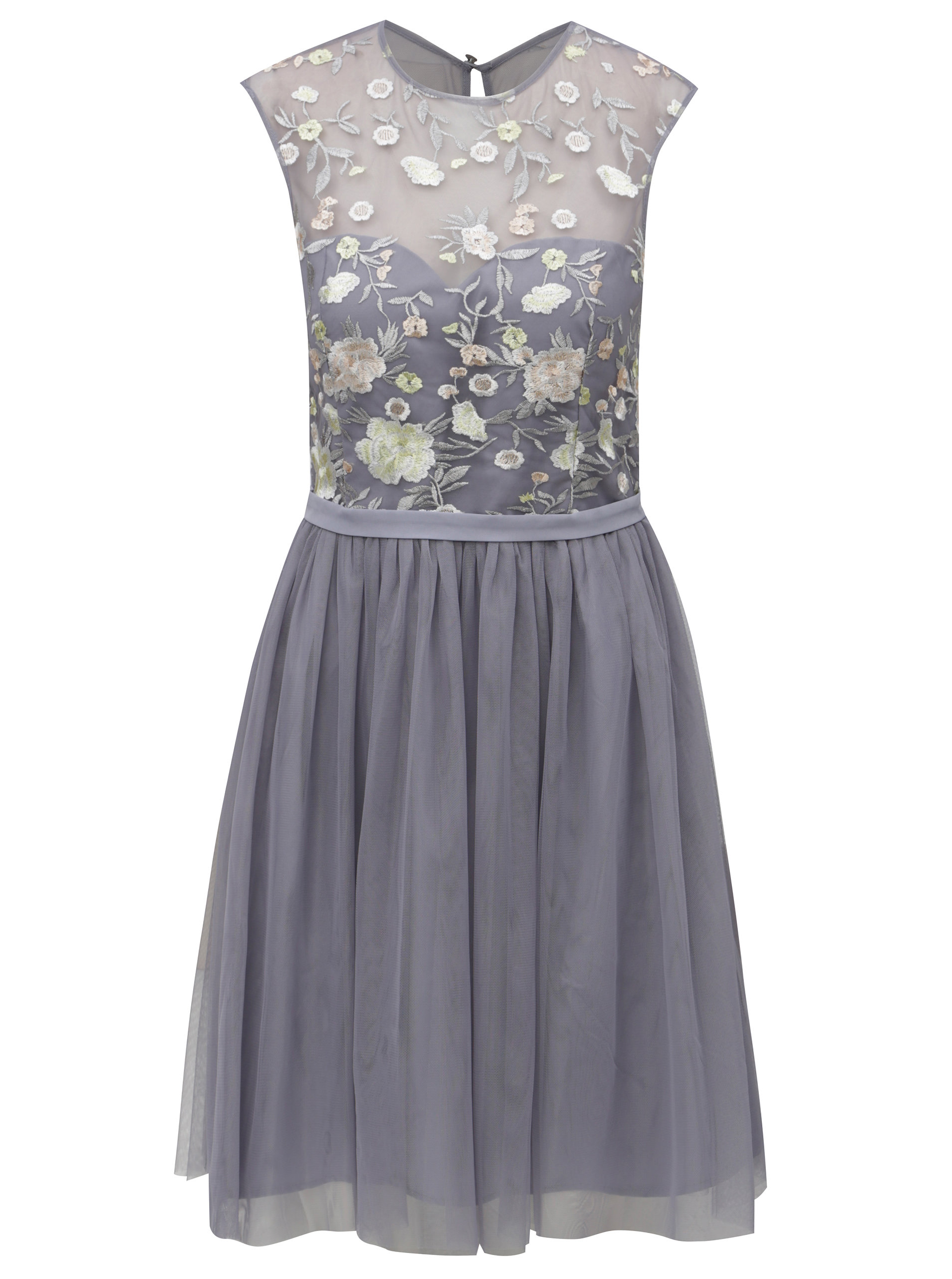 68bb04a1ab71 Šedé šaty s tylovou sukní Little Mistress ...