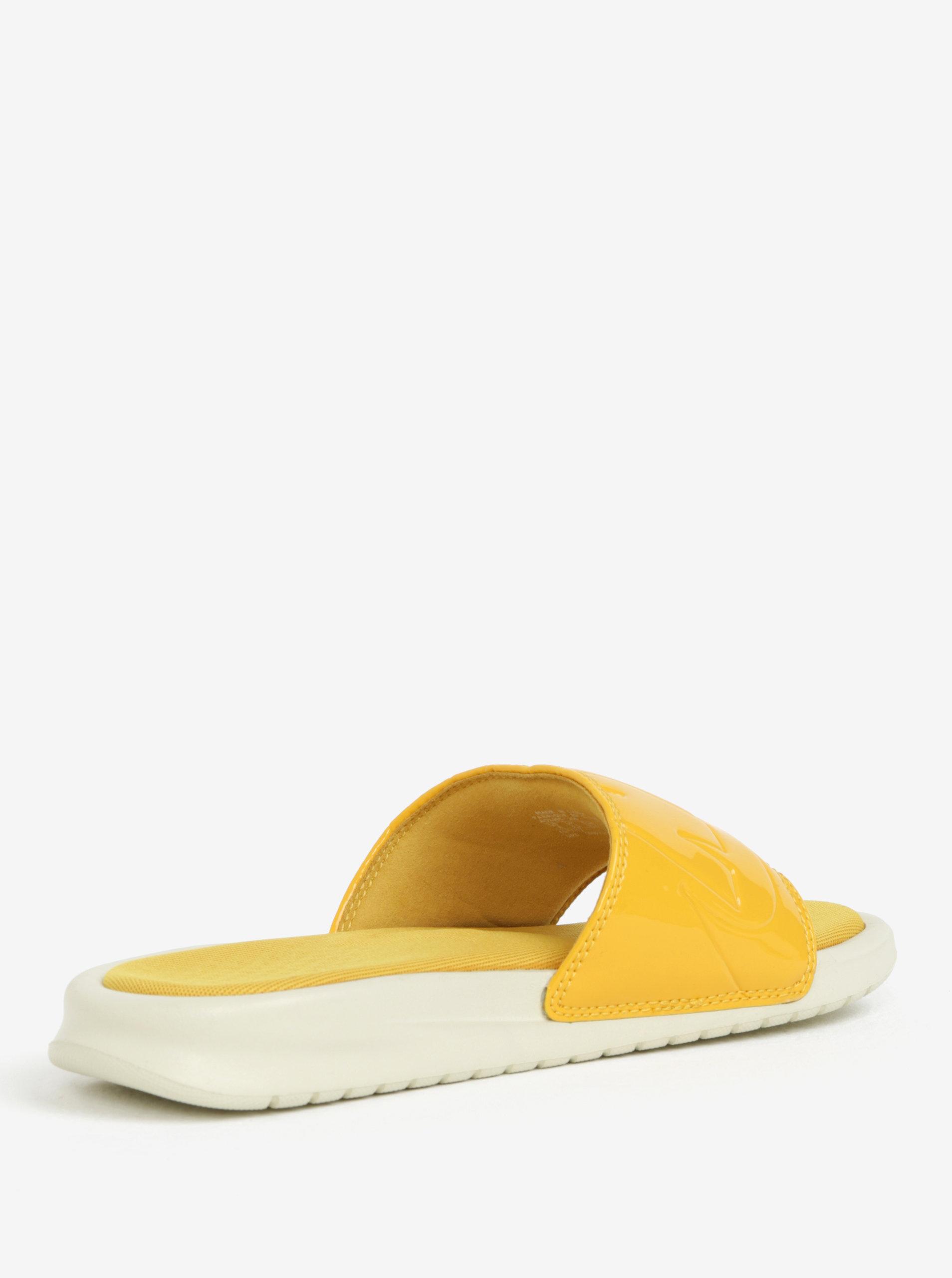 51ccbc95e1cd Žlté dámske šľapky Nike Benassi Jdi ...