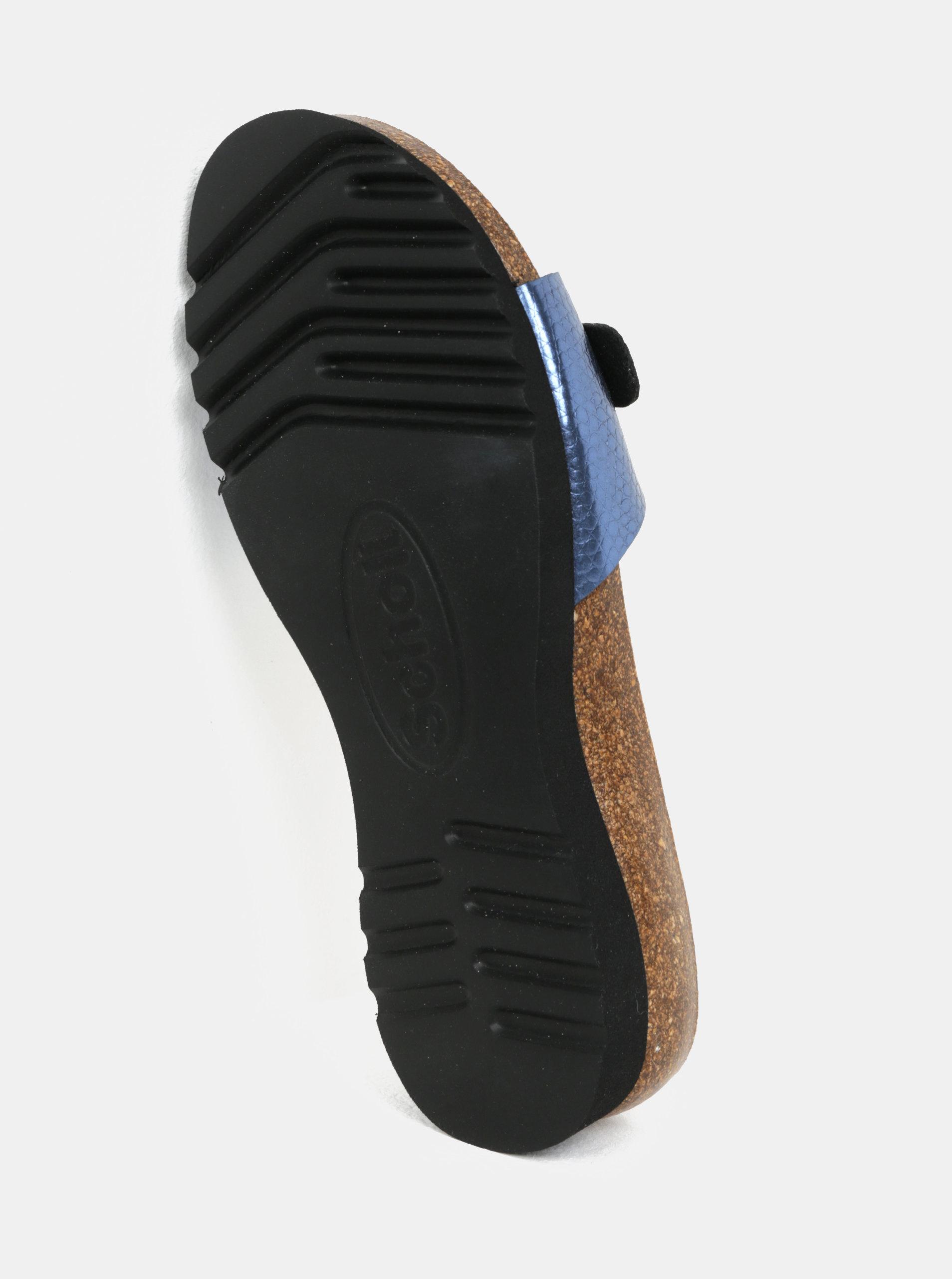 Modré dámské zdravotní pantofle Scholl Ginni ... a8767fb111