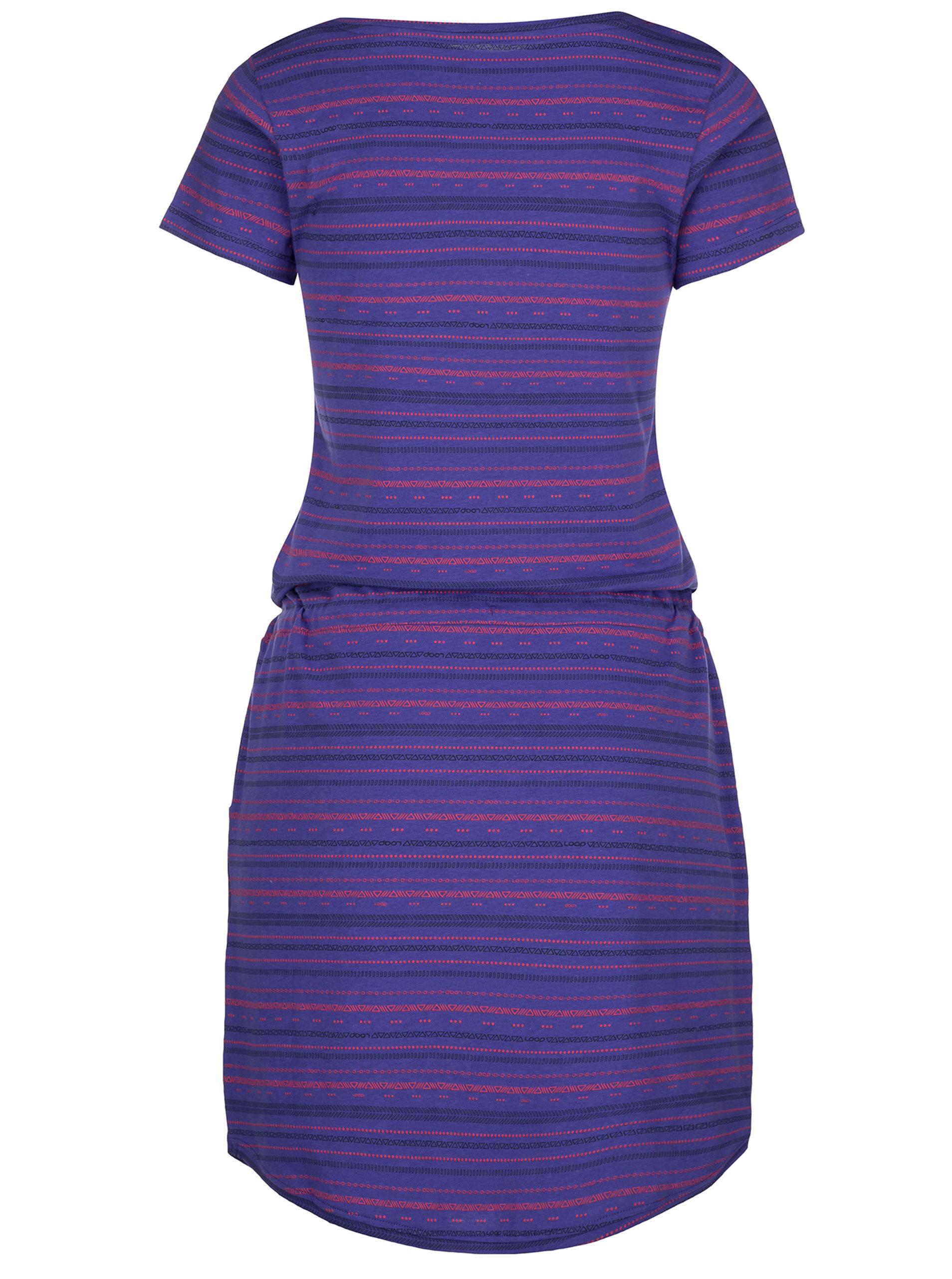 e1b97bed6ed Fialové vzorované šaty LOAP Alecia ...