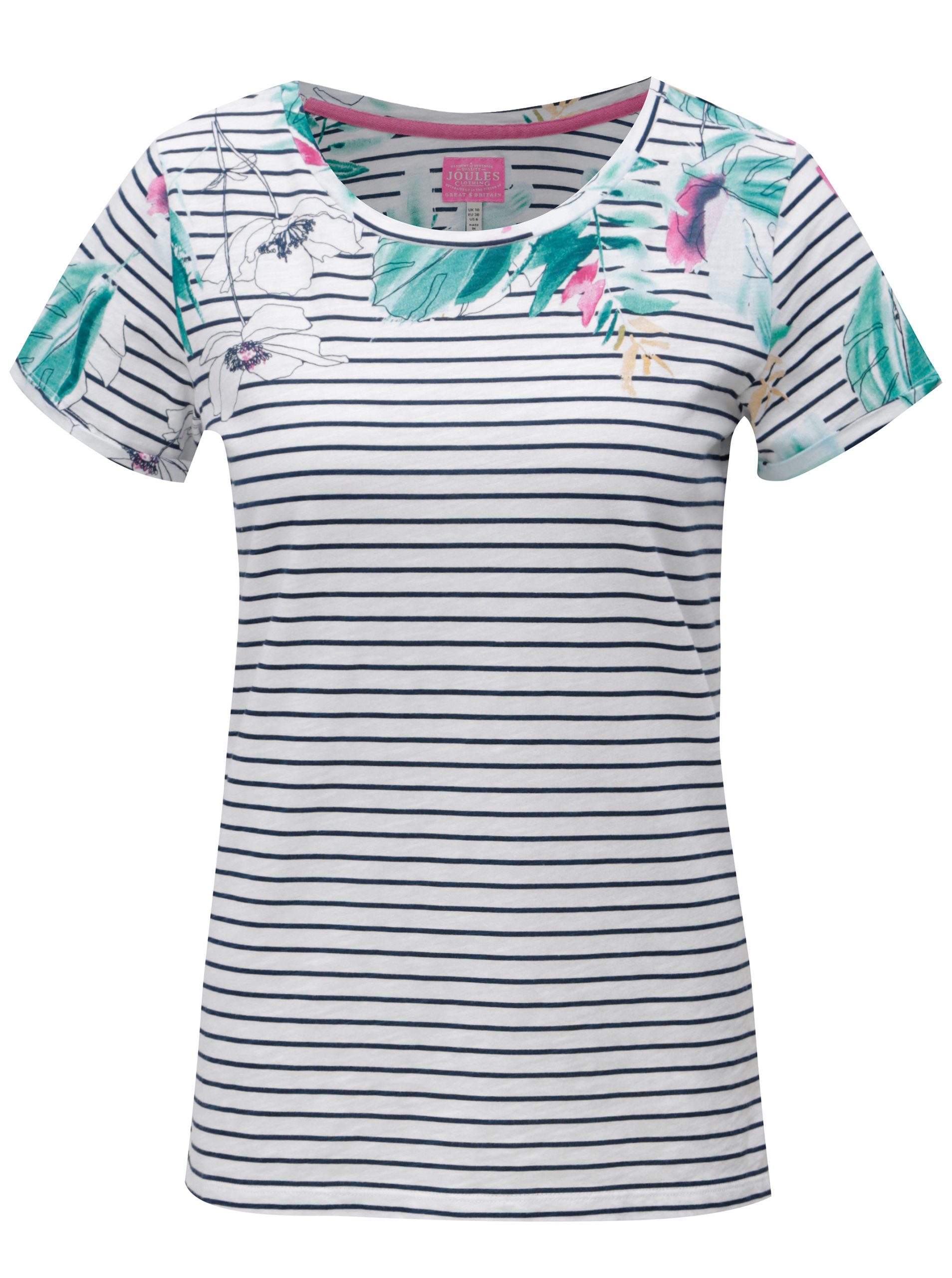 7dbba5f76b Modro-biele pruhované tričko s potlačou Tom Joule Jersey ...