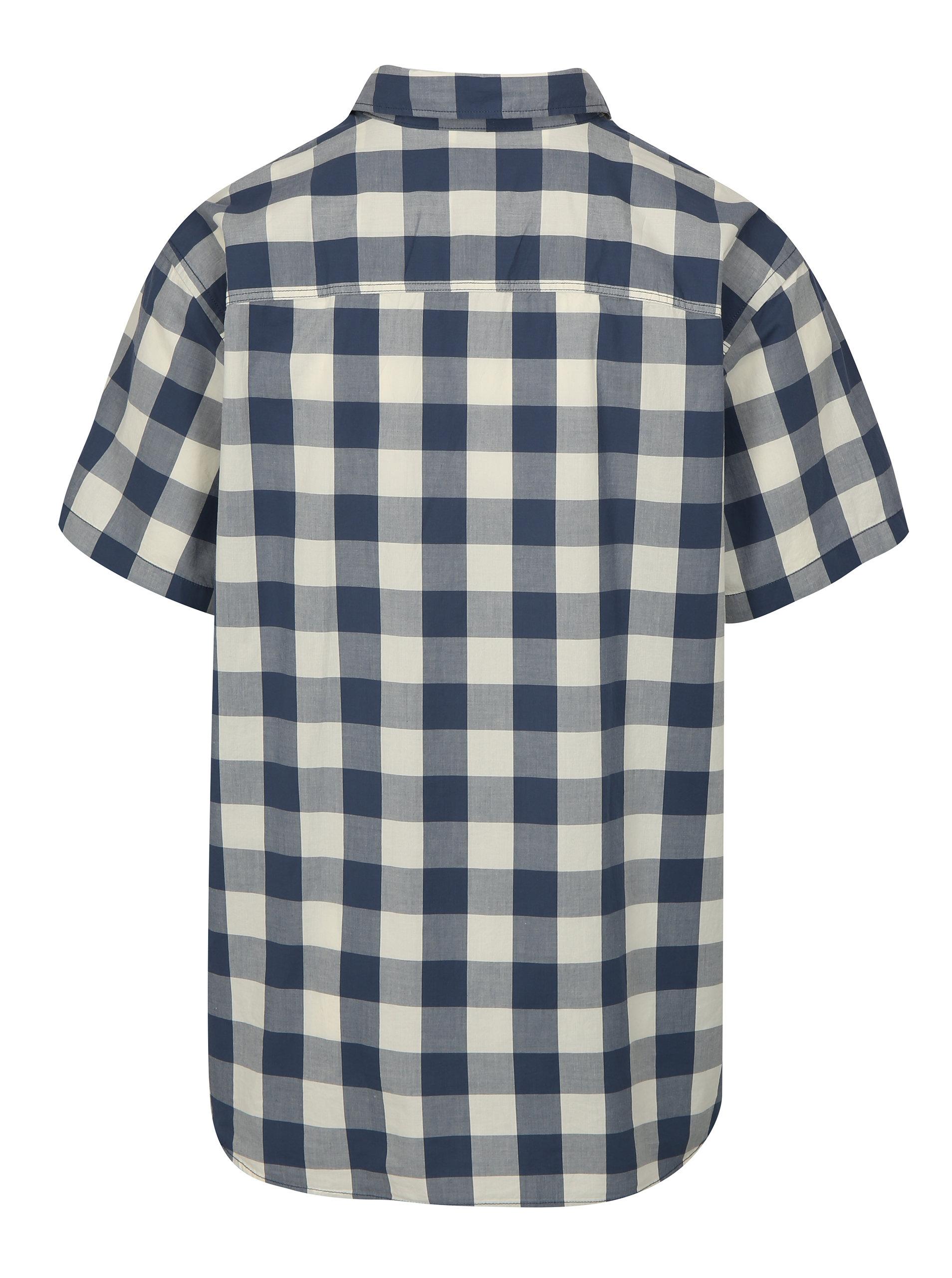 83ce814c1d79 Modro-biela kockovaná plus size košeľa Jack   Jones Boise ...