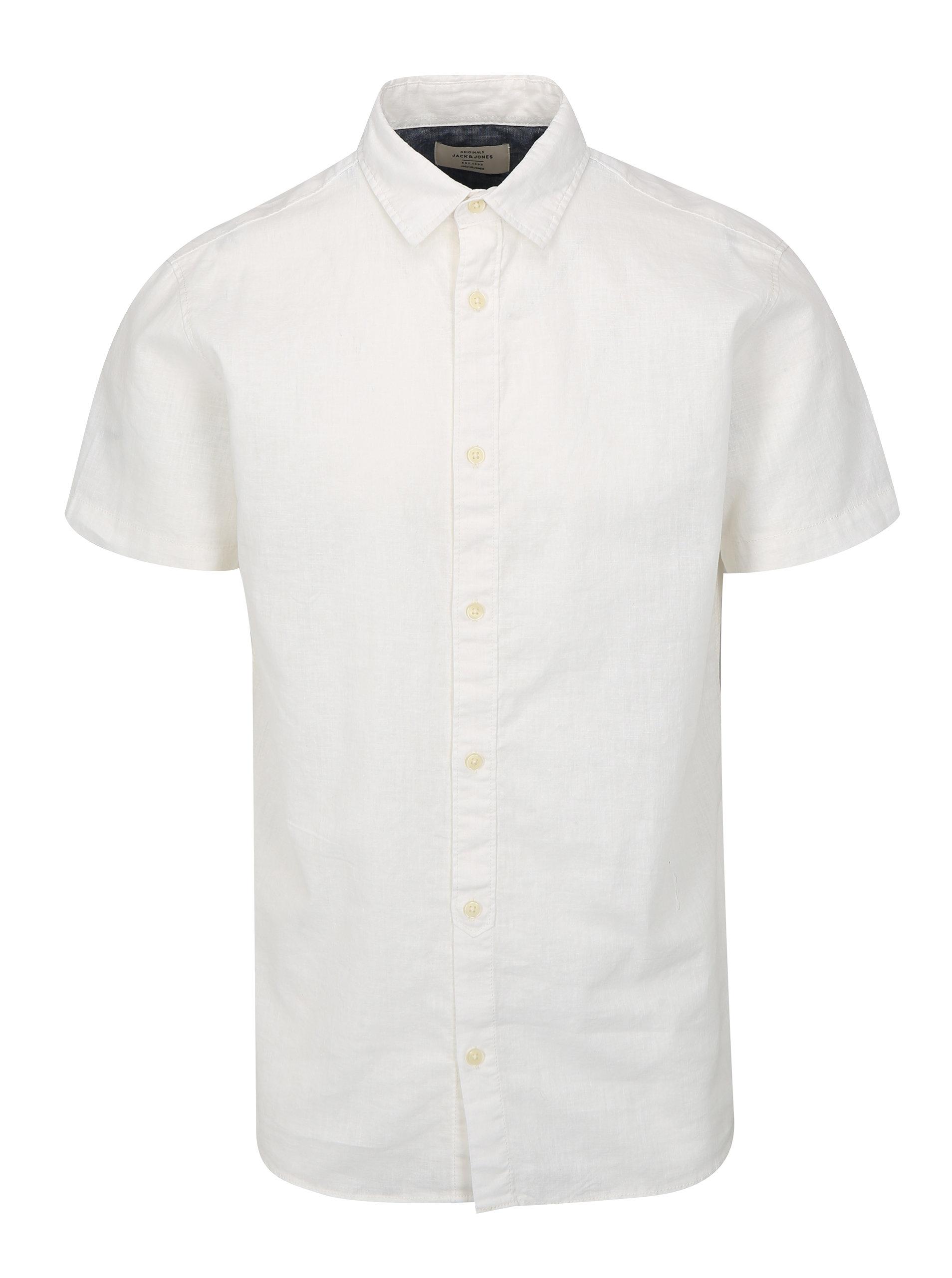 Bílá lněná košile Jack   Jones New ... 49029afe94