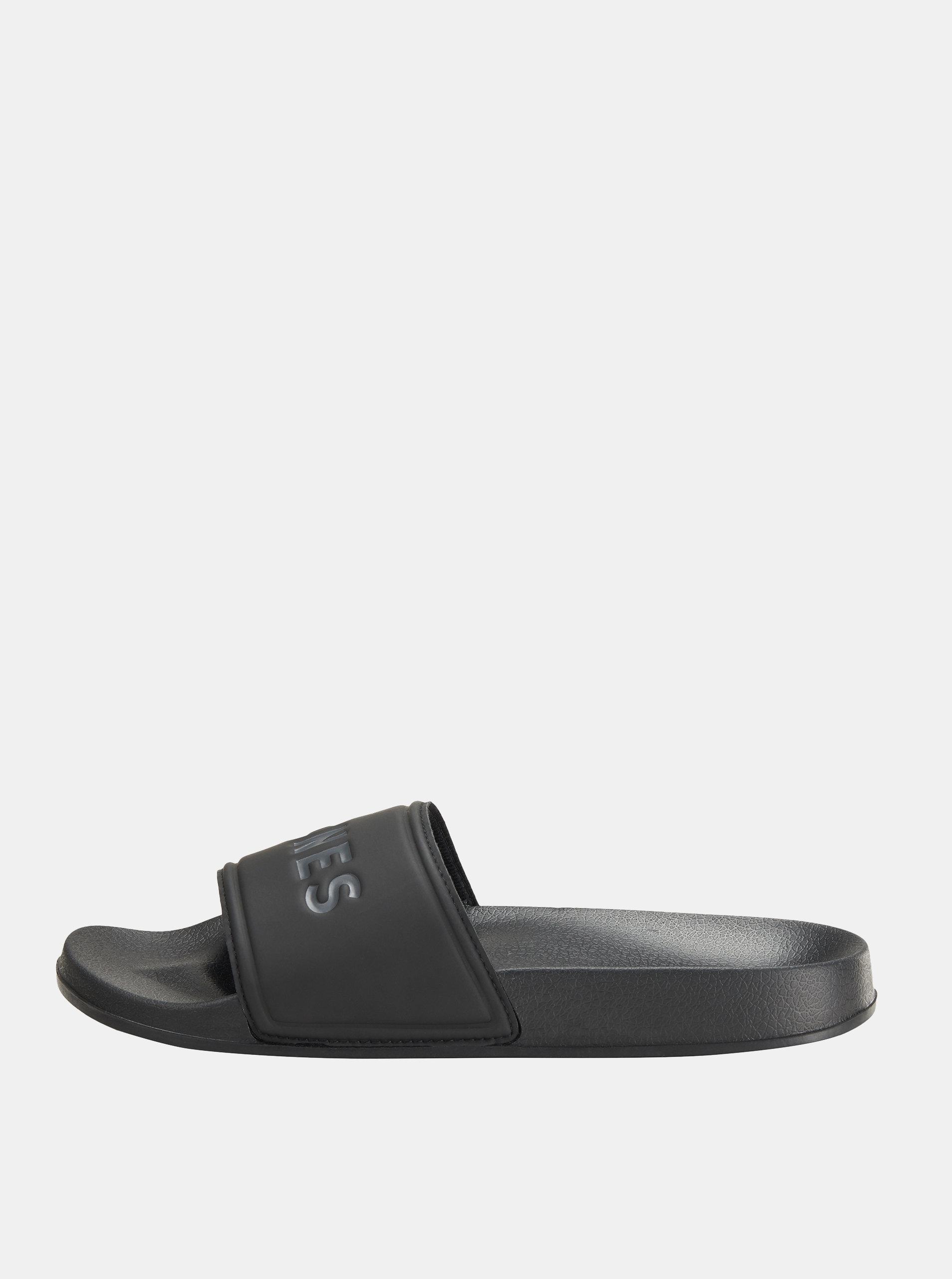 Černé pánské pantofle Jack & Jones Larry