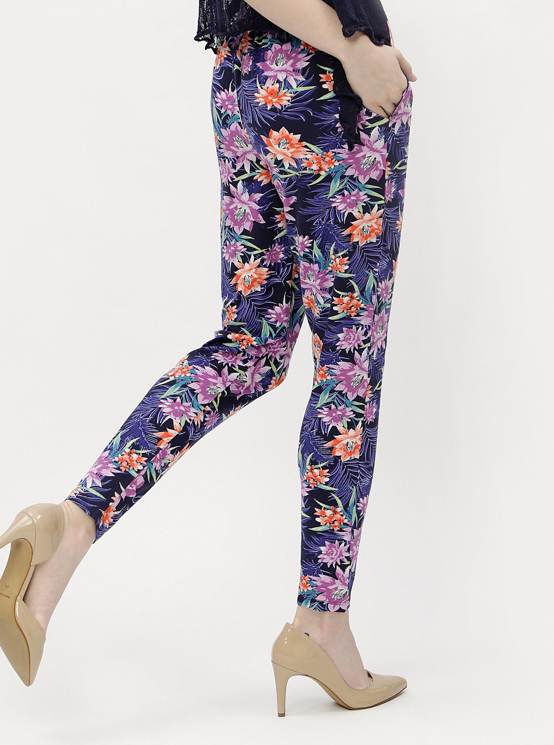 4e125082e872 Tmavomodré dámske vzorované nohavice M Co ...