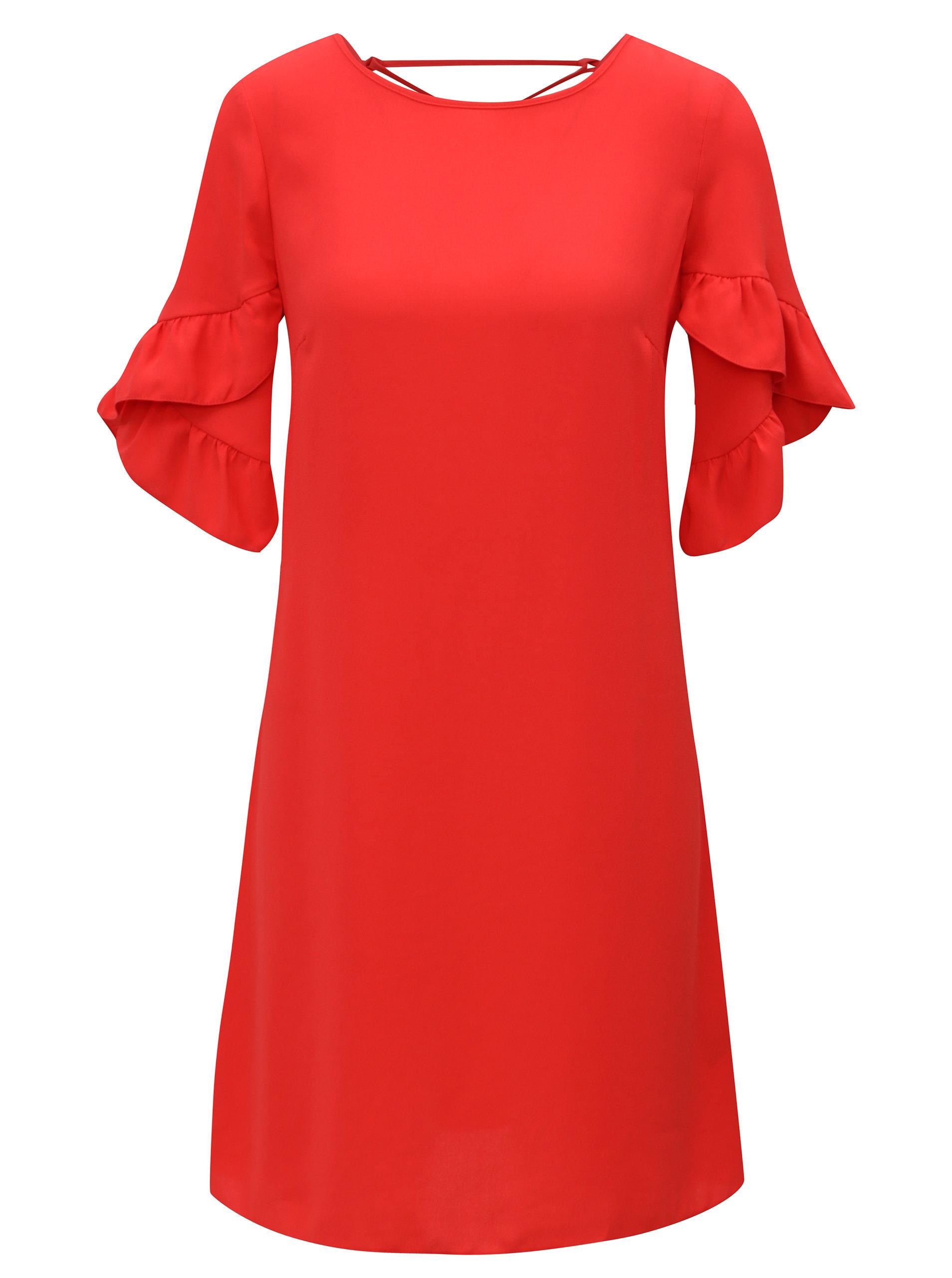 84929d7aad5b Červené šaty s volánovými rukávmi Dorothy Perkins ...